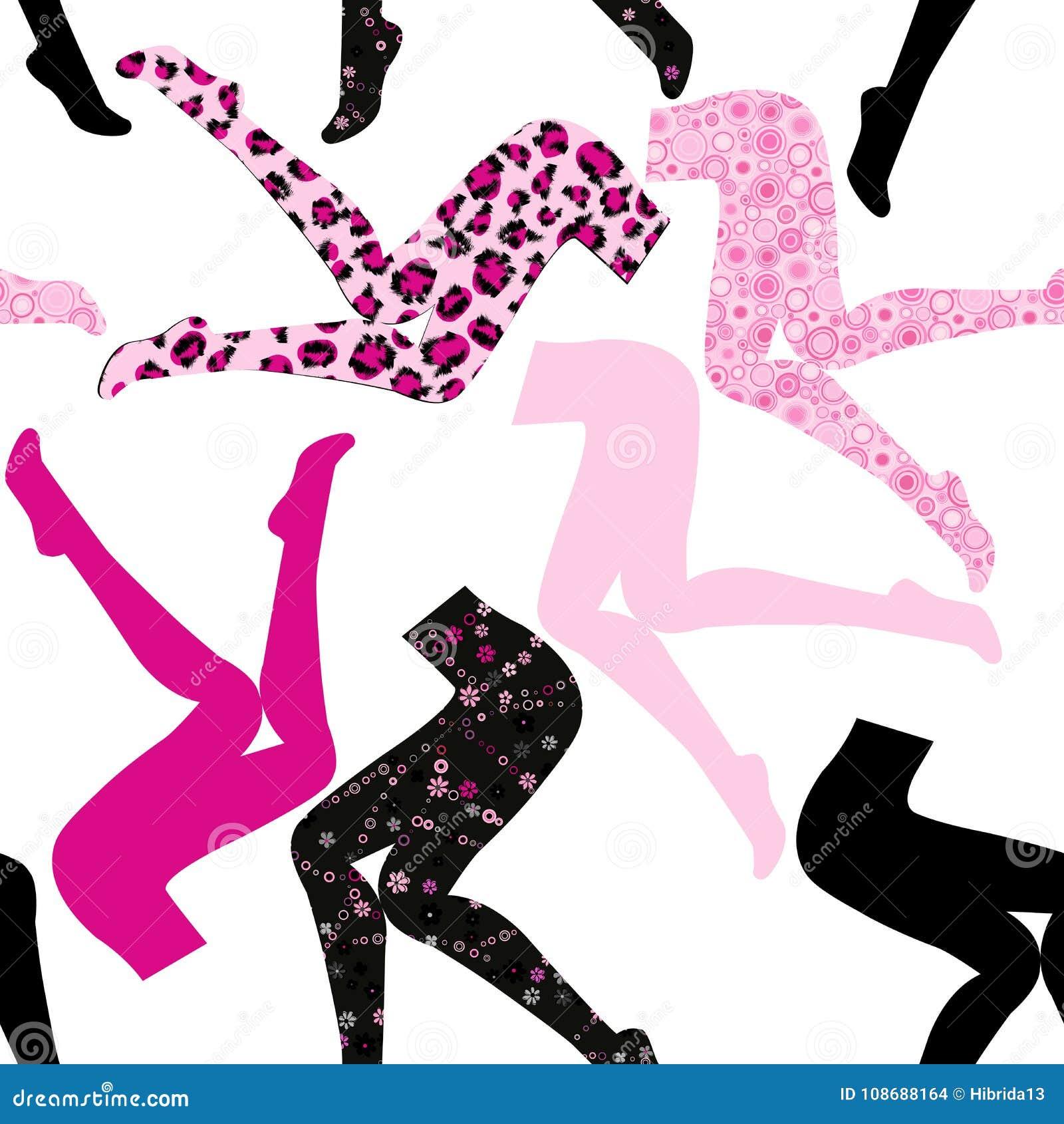 6bf28960d Teste padrão sem emenda com pés do ` s das mulheres na meia-calça colorida