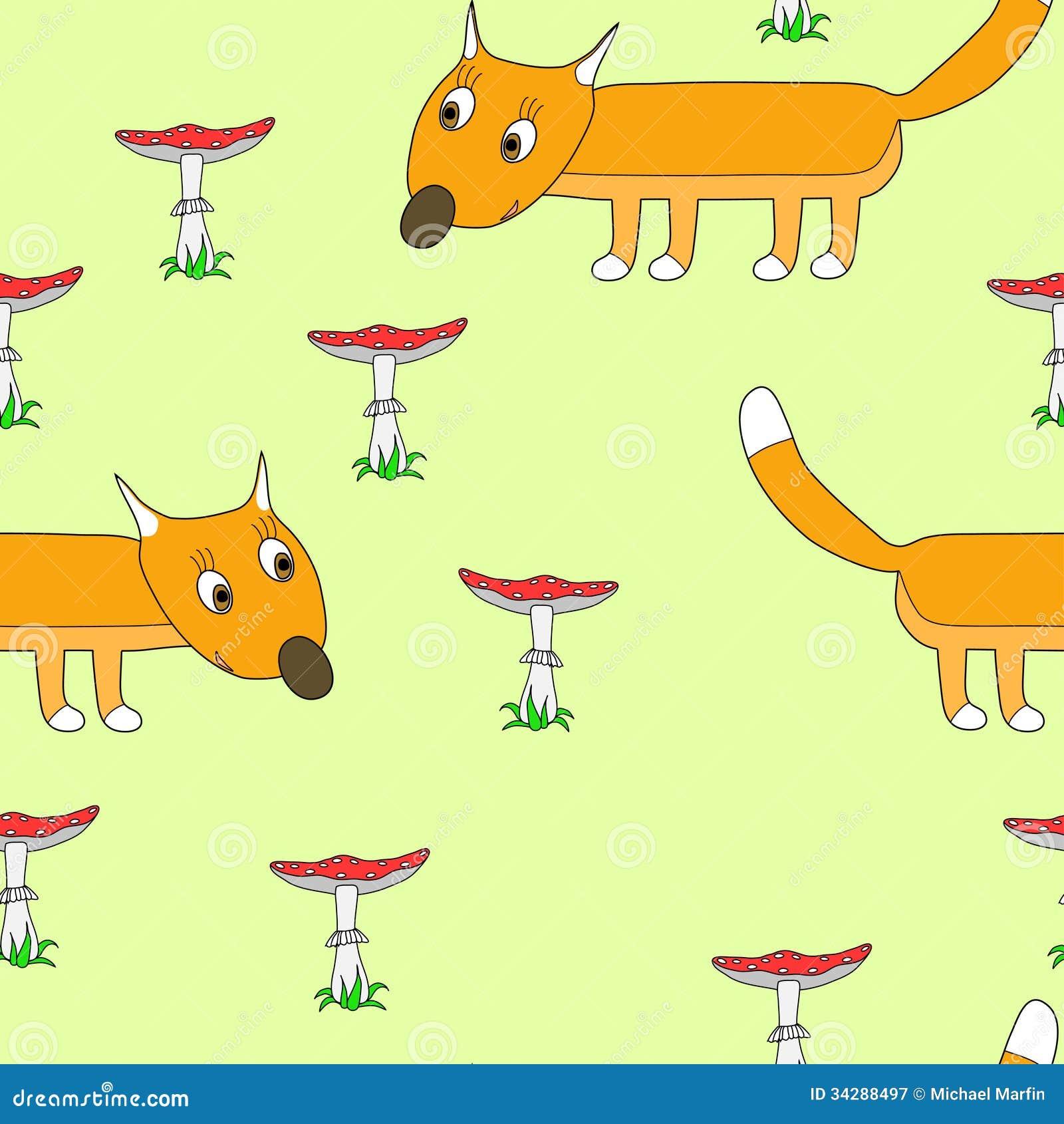 Teste padrão sem emenda com uma raposa