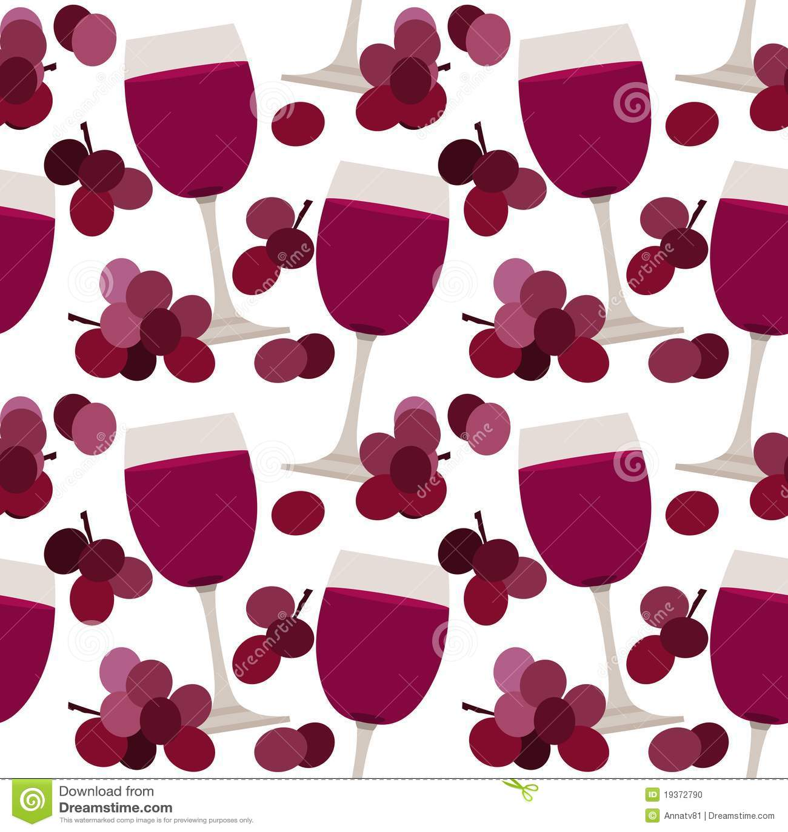 Teste padrão sem emenda com vidros de vinho