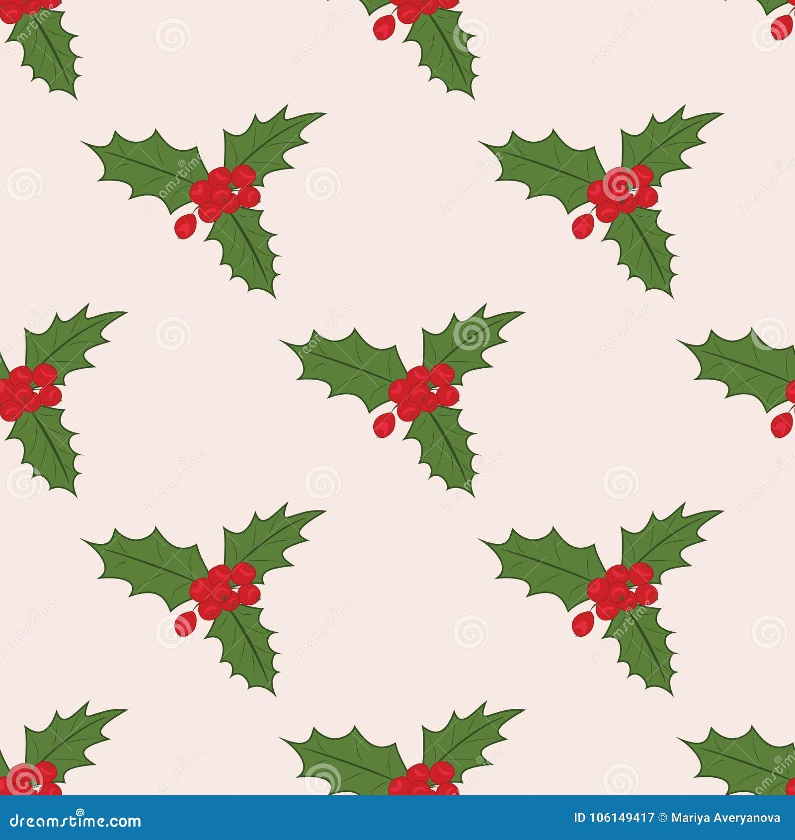 Teste padrão sem emenda com visco do Natal