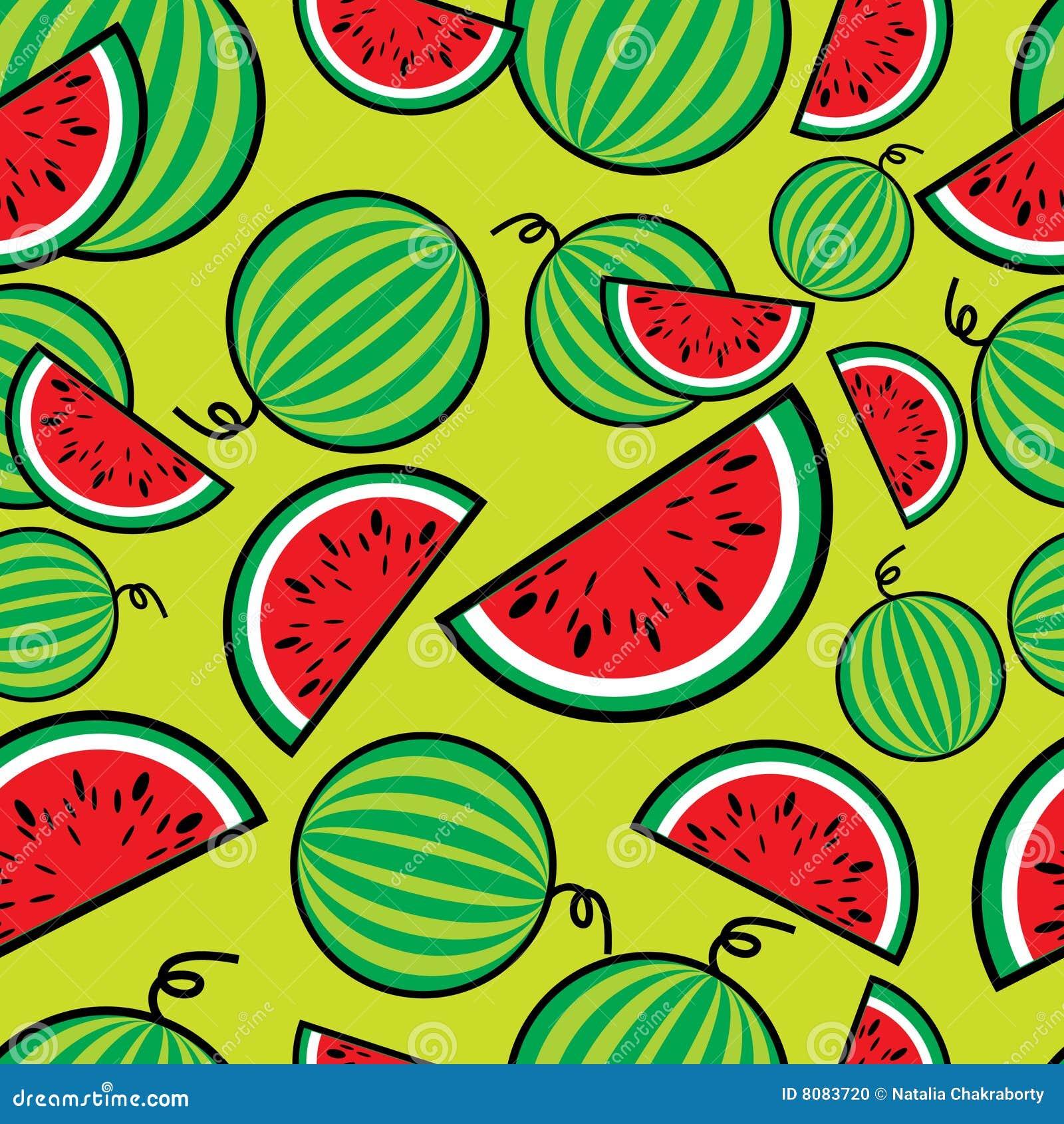 Teste padrão sem emenda da melancia