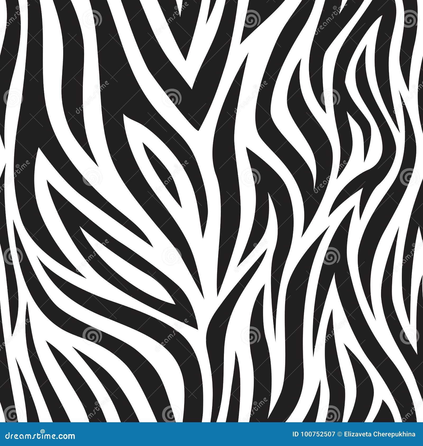 Teste padrão sem emenda da zebra Listras preto e branco do tigre Textura popular