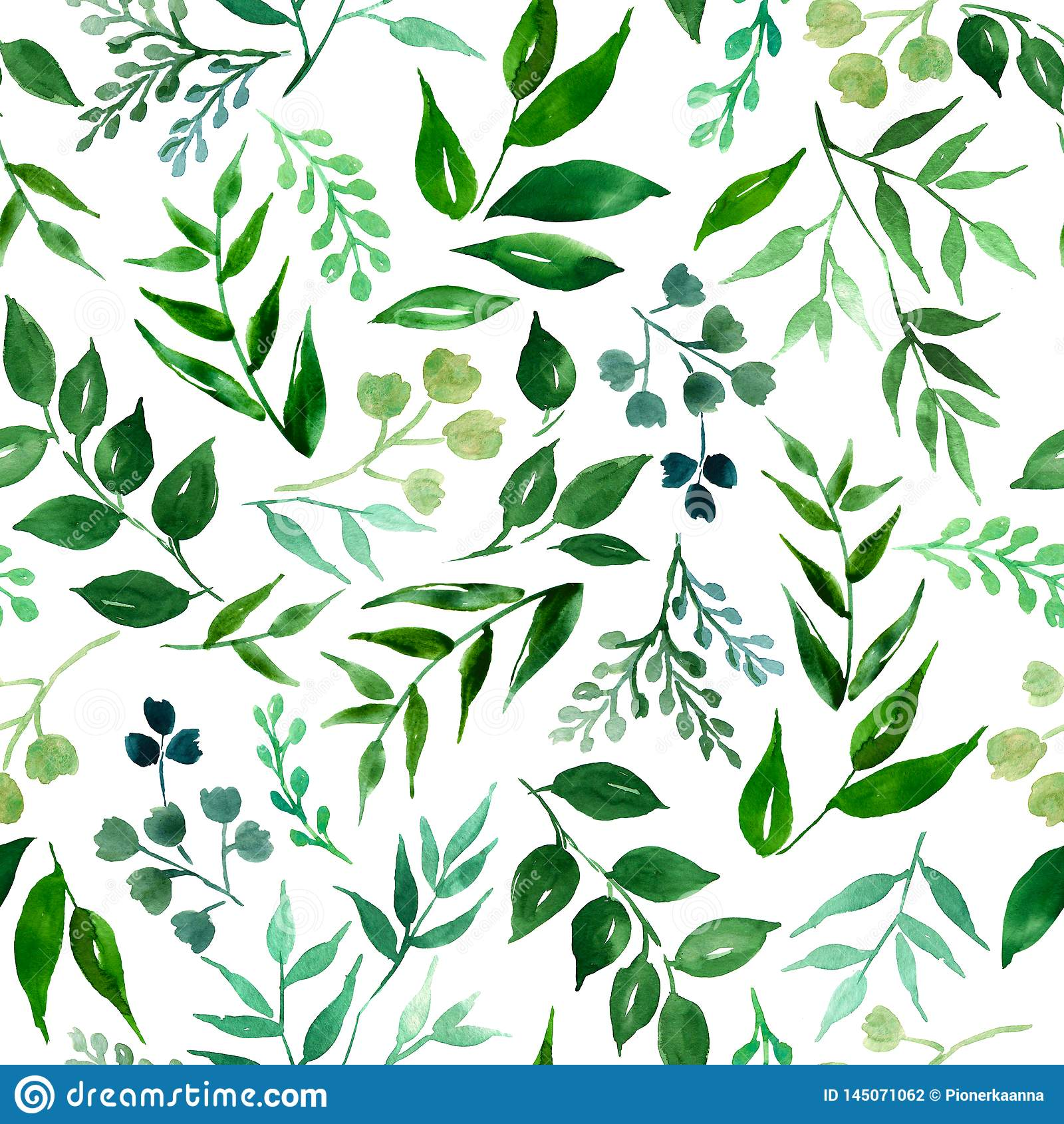 Teste padrão sem emenda das folhas, ervas, planta tropical