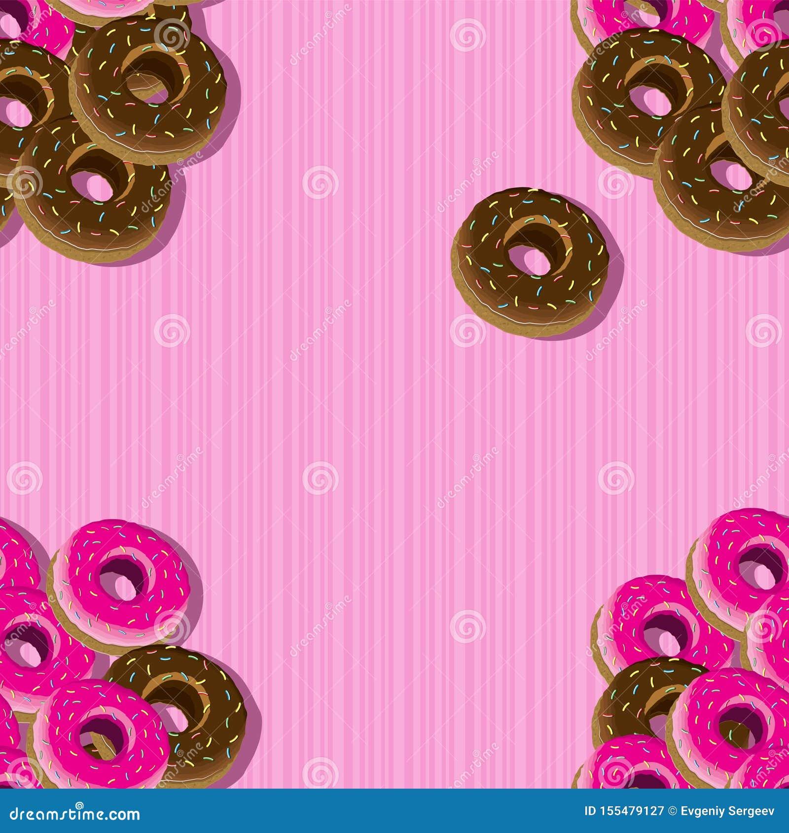 Teste padrão sem emenda de anéis de espuma vitrificados em um fundo listrado cor-de-rosa Ilustra??o do vetor