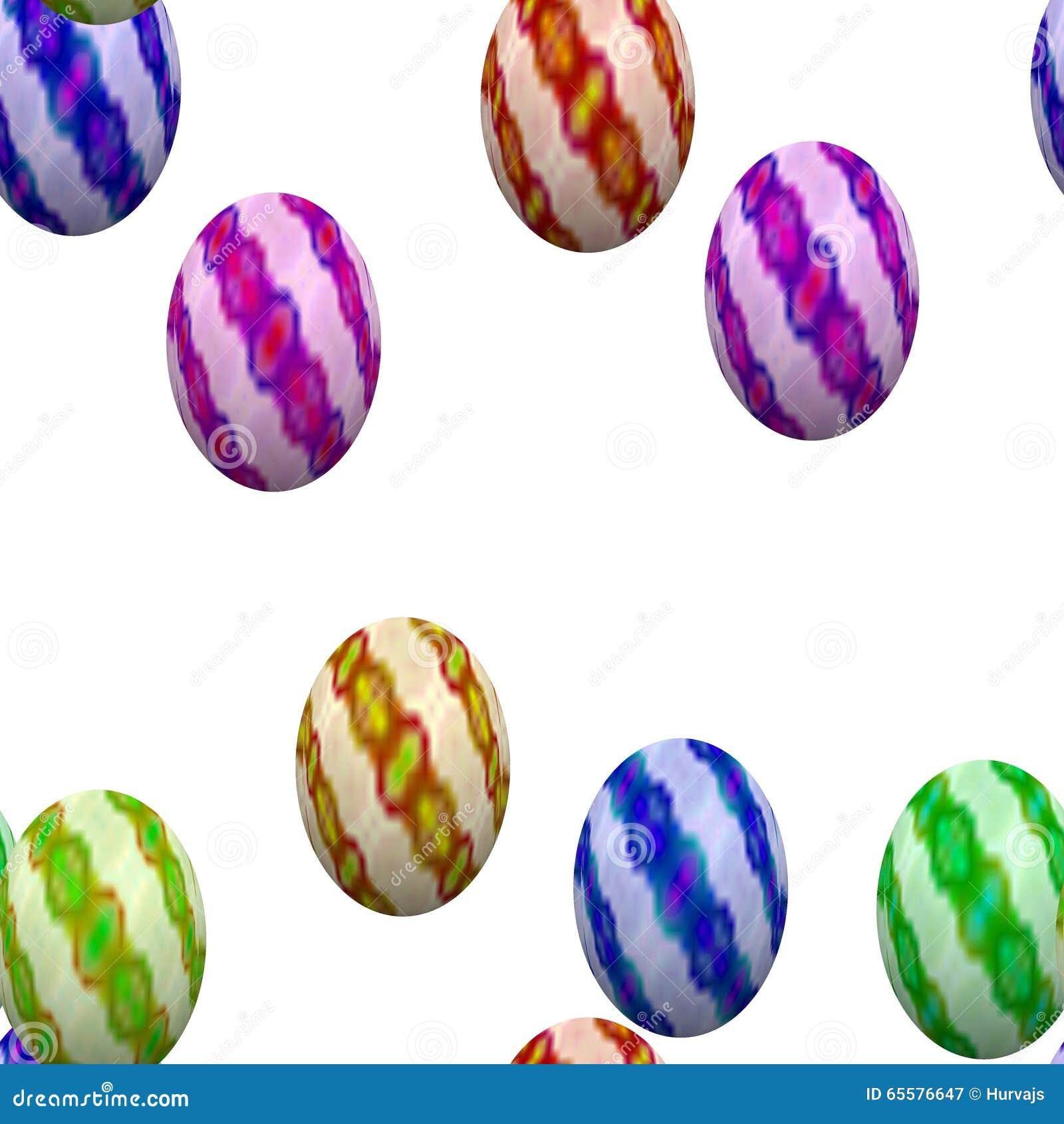 Teste padrão sem emenda de easter com ovos