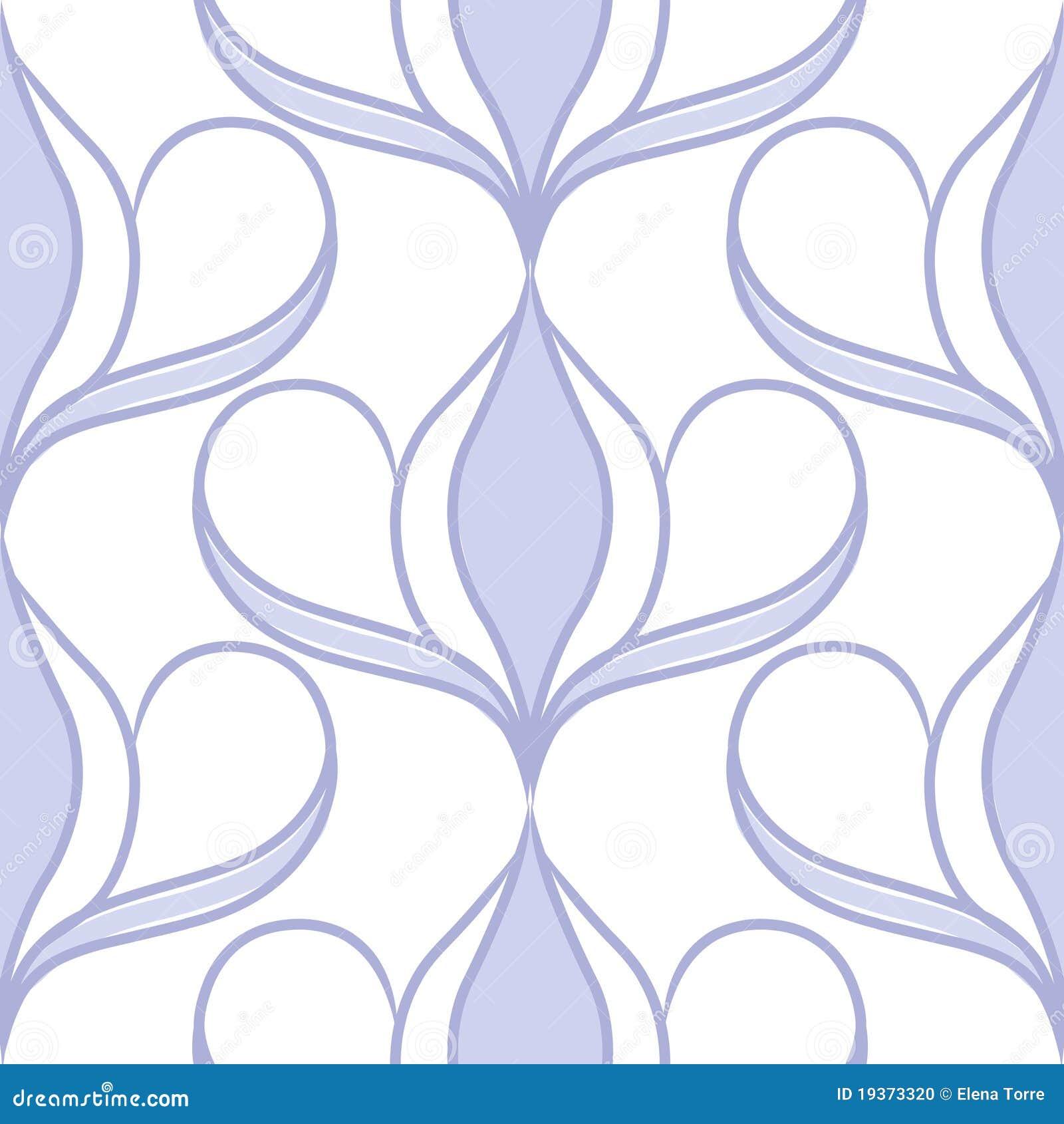 Teste padrão sem emenda decorativo - azul