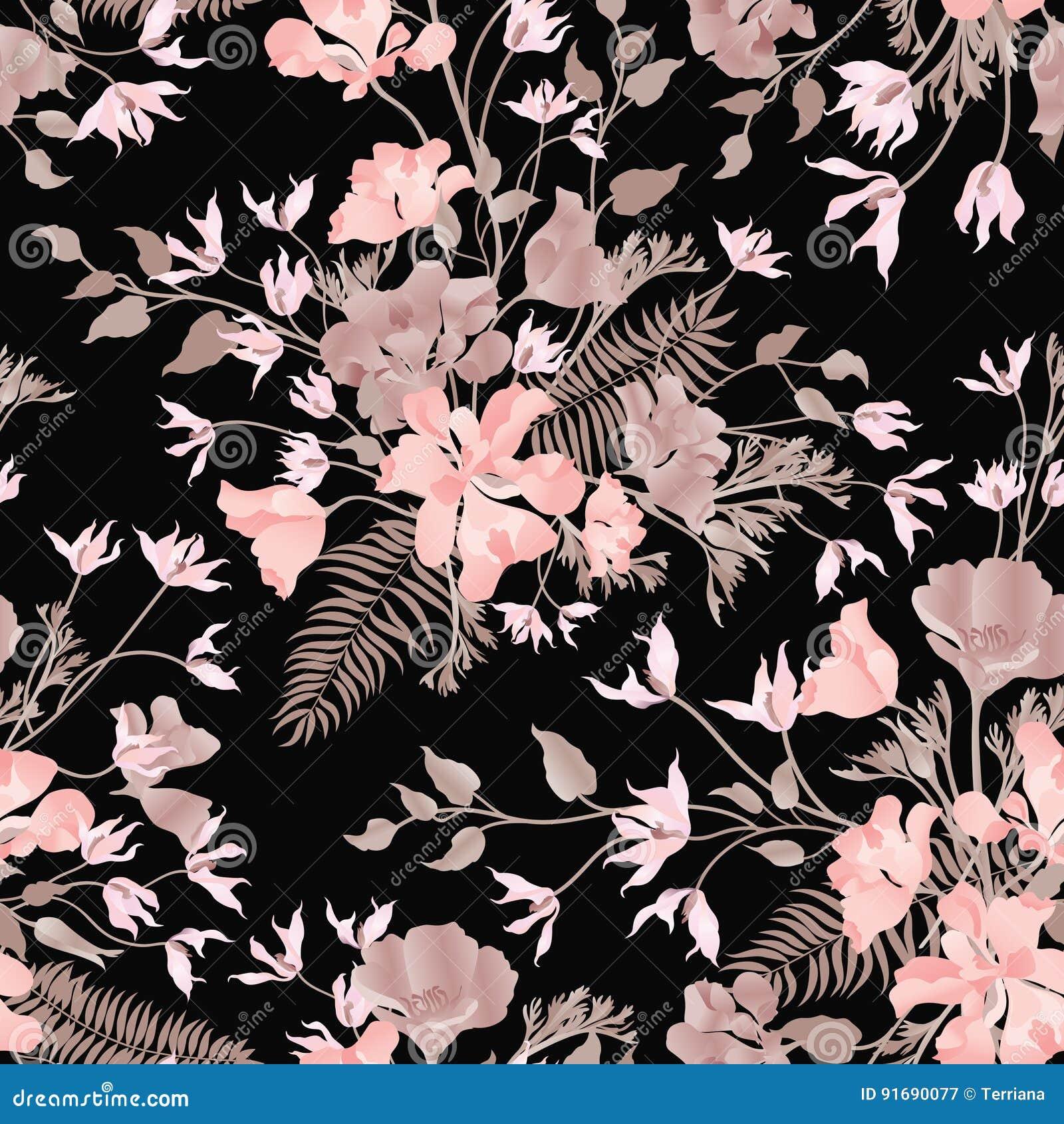 Teste padrão sem emenda decorativo floral Fundo do jardim Fl