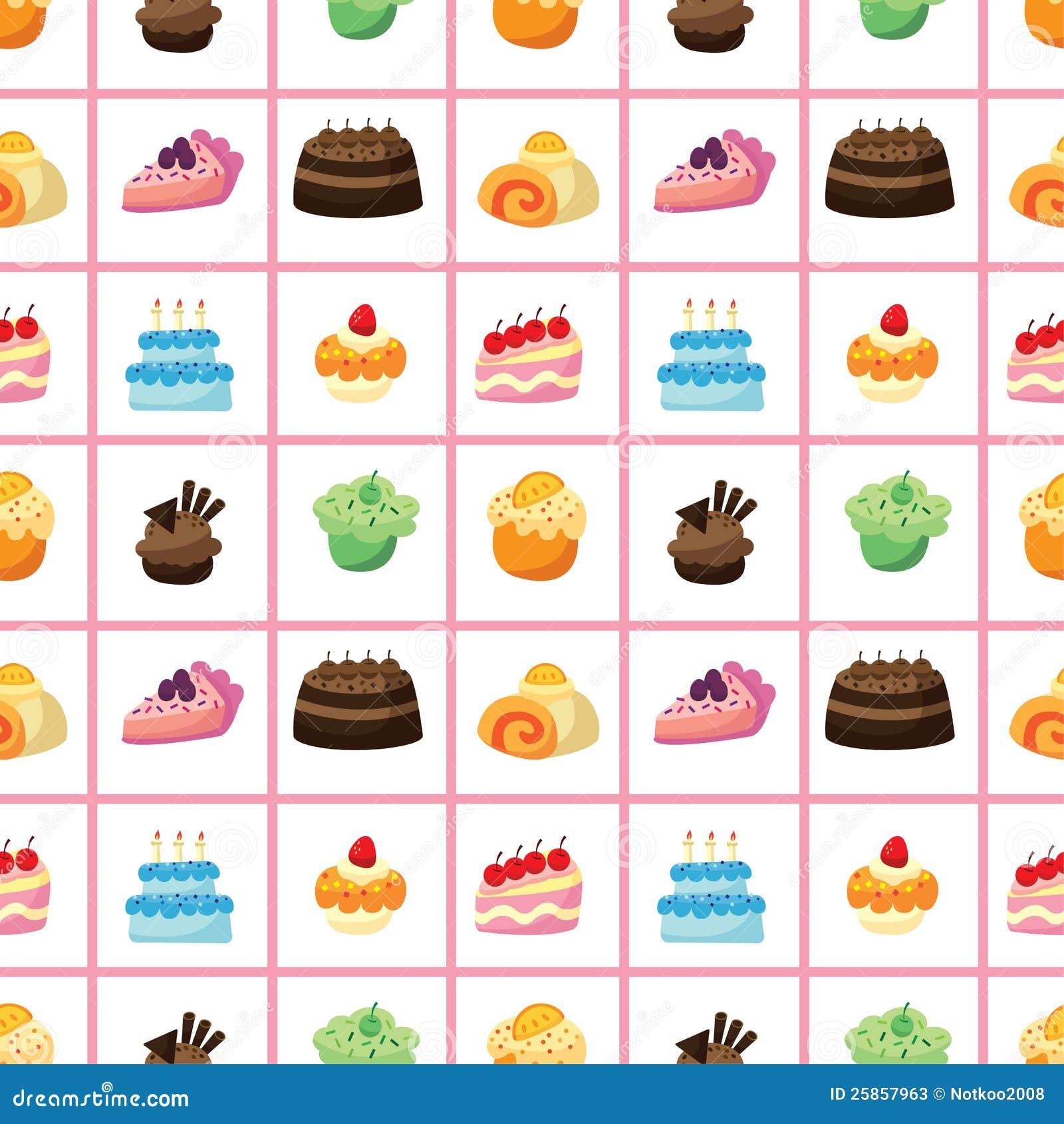 Teste padrão sem emenda do bolo
