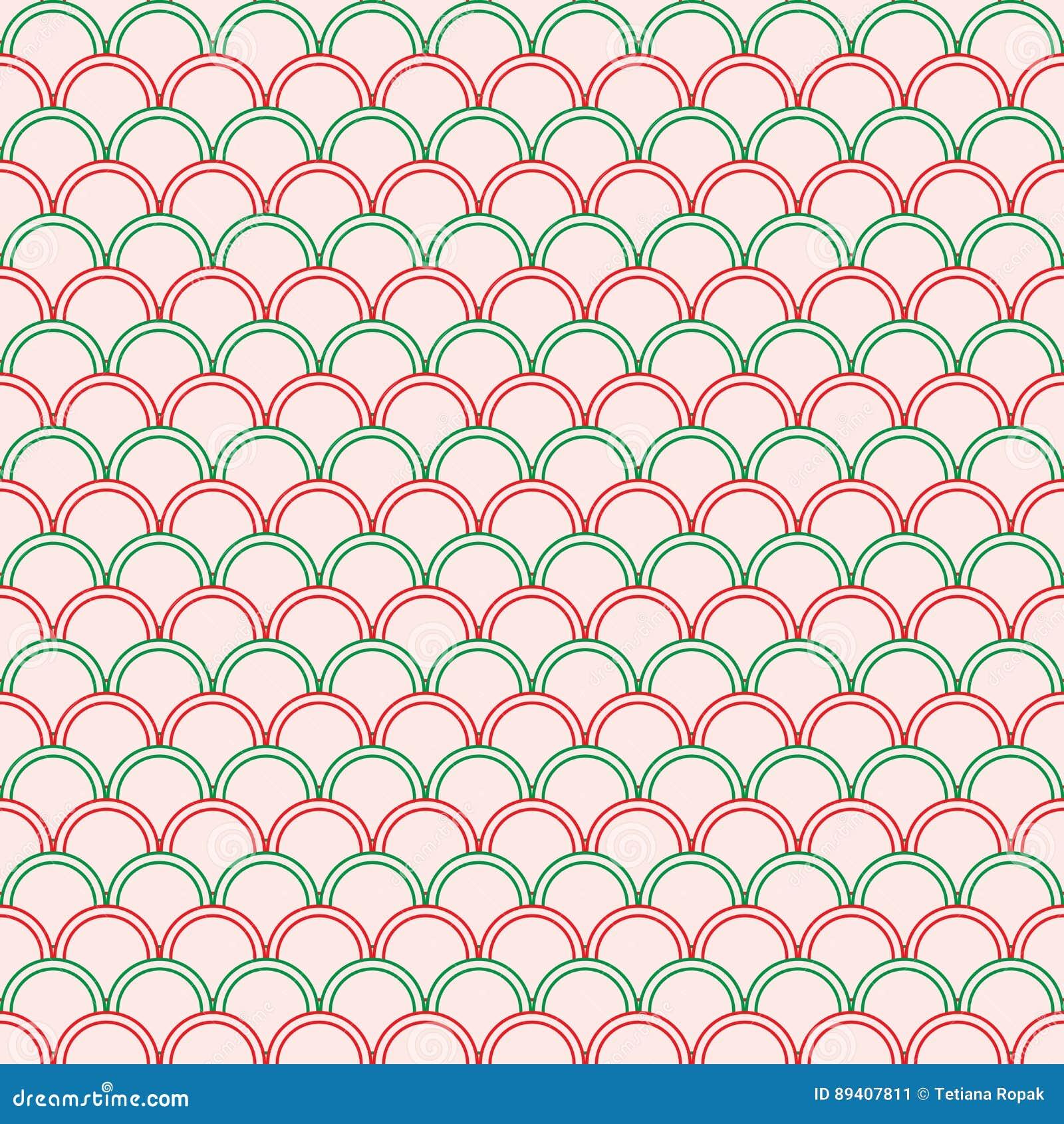 Teste padrão sem emenda do círculo geométrico abstrato Gráfico da forma Projeto do fundo textura à moda moderna Ilustração do vet