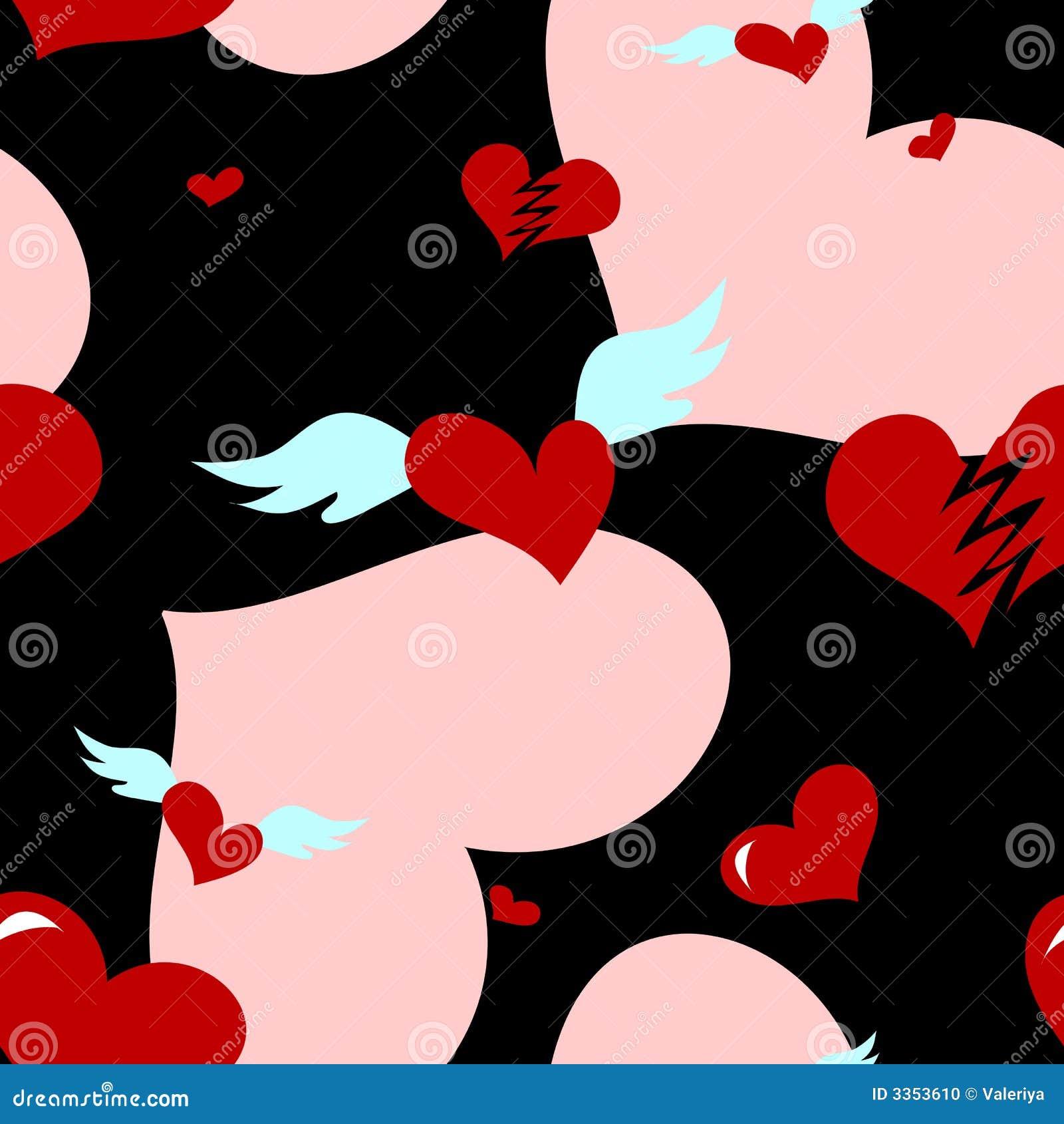 Teste padrão sem emenda do coração do amor