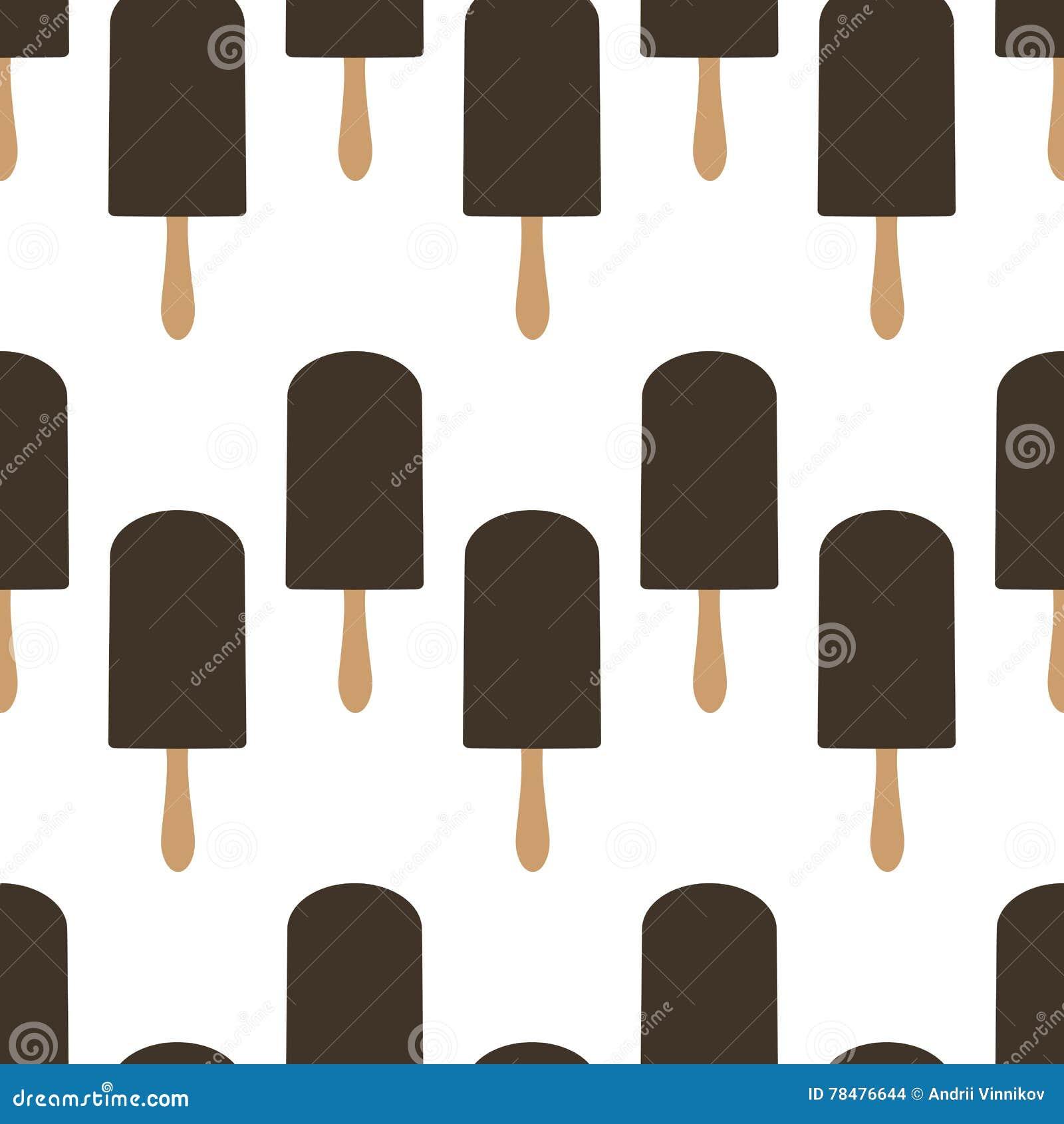 Teste padrão sem emenda do gelado Teste padrão sem emenda do picolé Po mordido