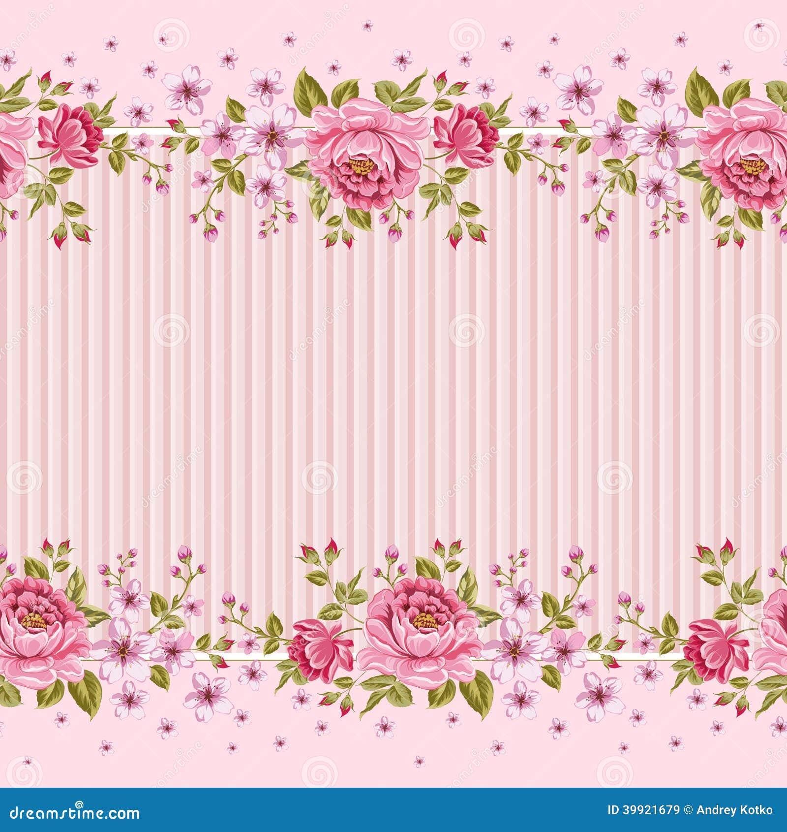 Teste padr o sem emenda do papel de parede com das rosas - Papel de pared de rayas ...