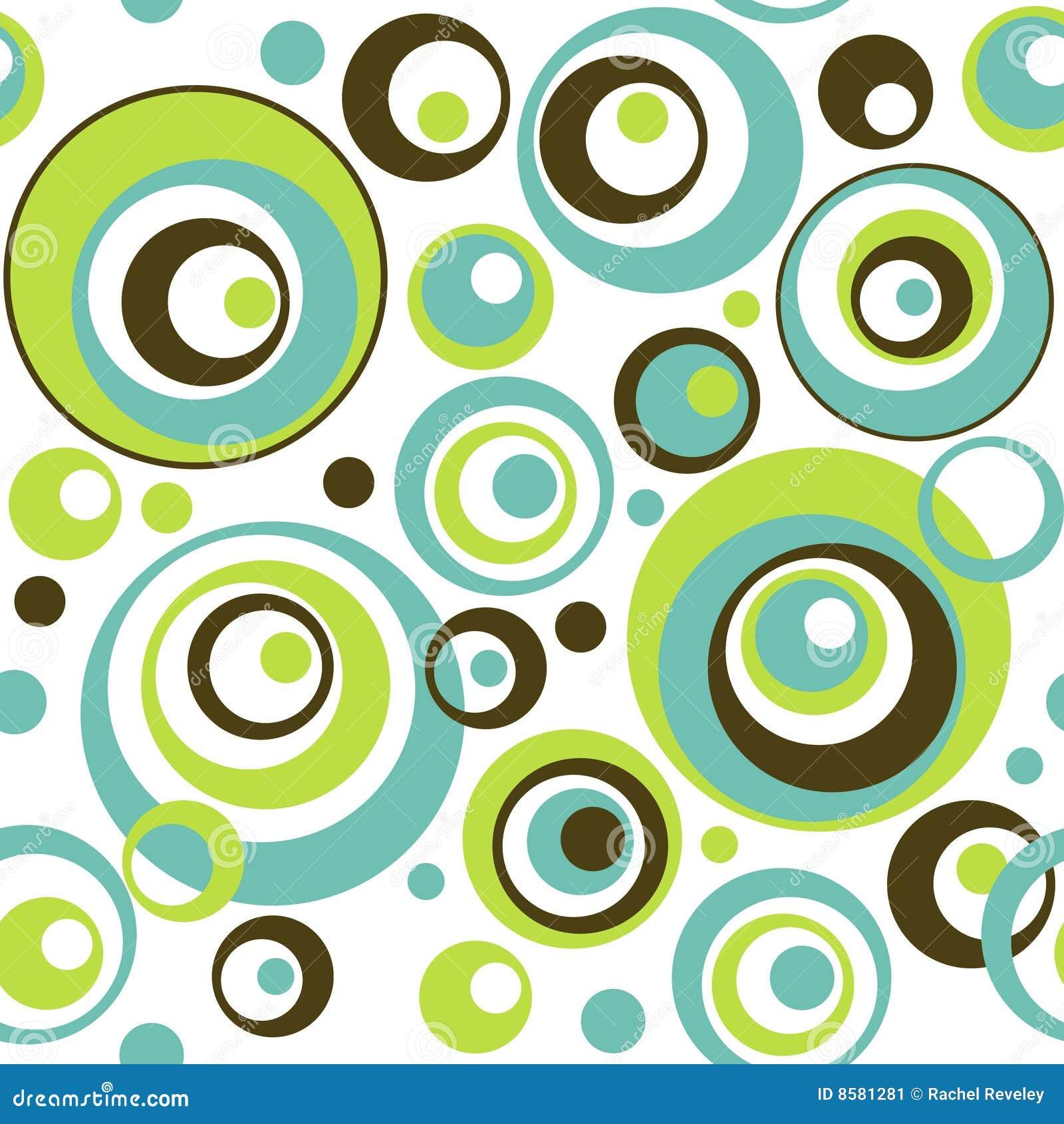 Teste padrão sem emenda do papel de parede dos círculos retros