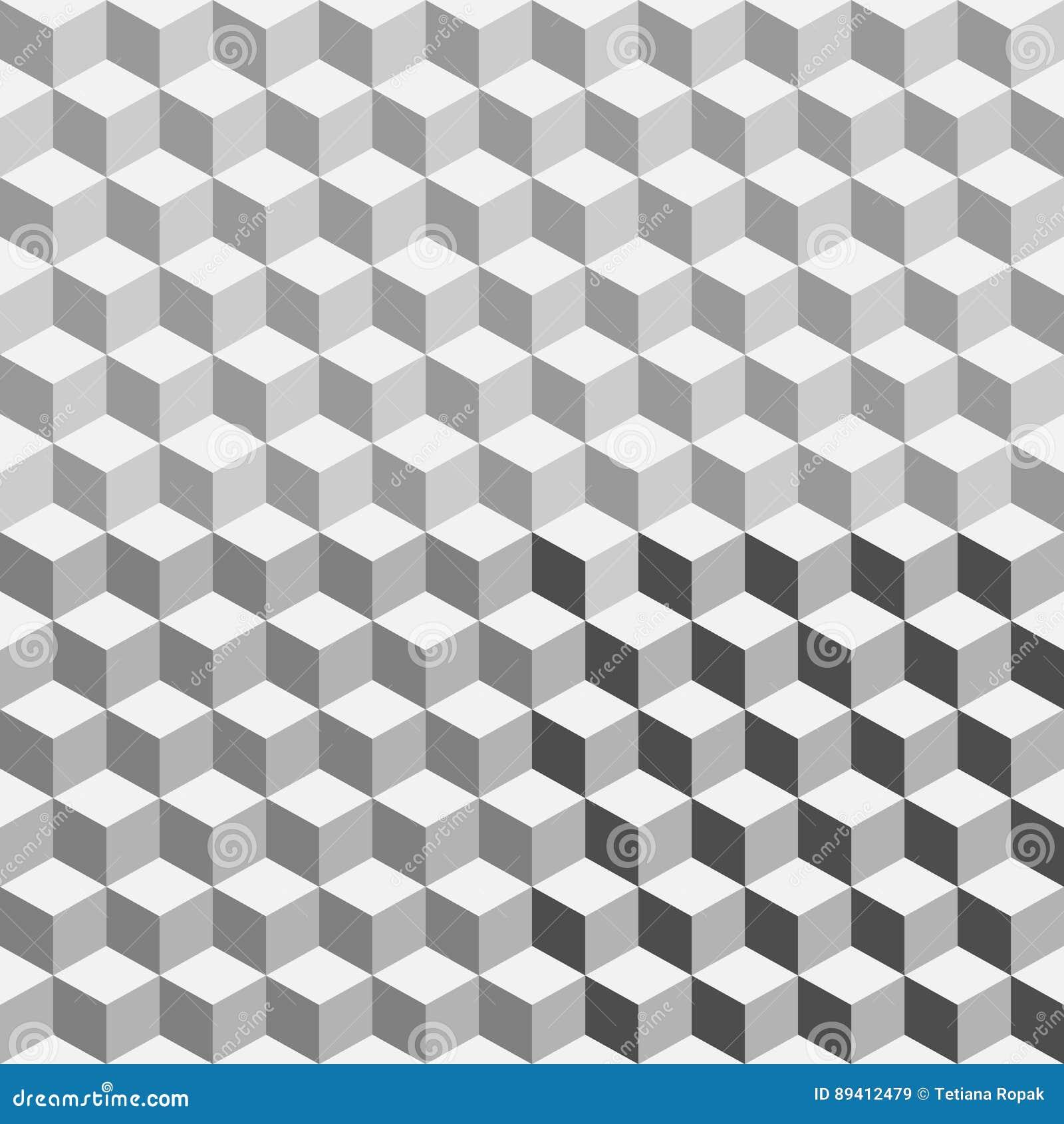 Teste padrão sem emenda do polígono geométrico Fundo do gráfico da forma Ilustração do vetor projeto 3D Ilusão ótica A à moda mod