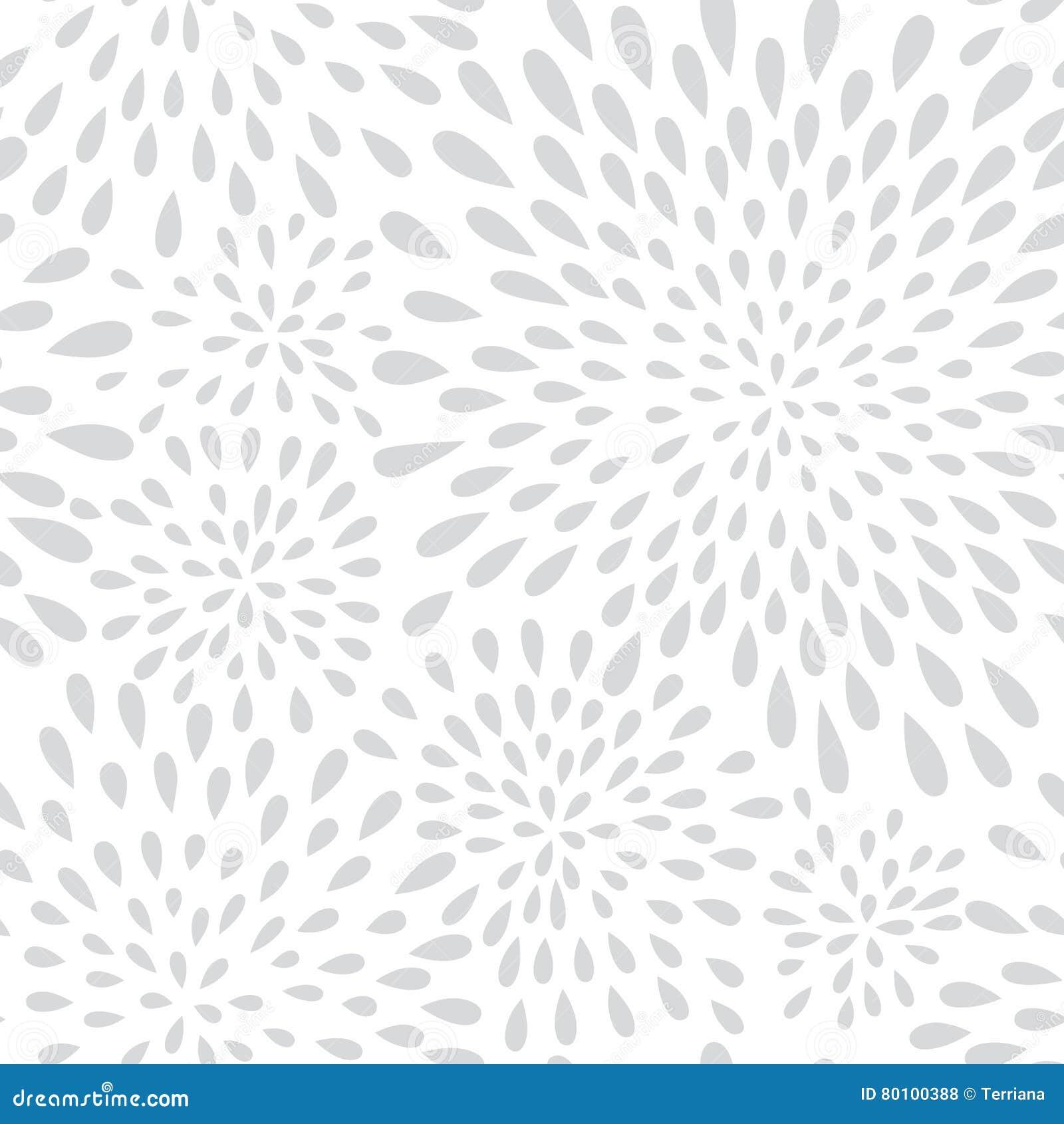 Teste padrão sem emenda do ponto abstrato do respingo do fogo de artifício Peta floral do redemoinho