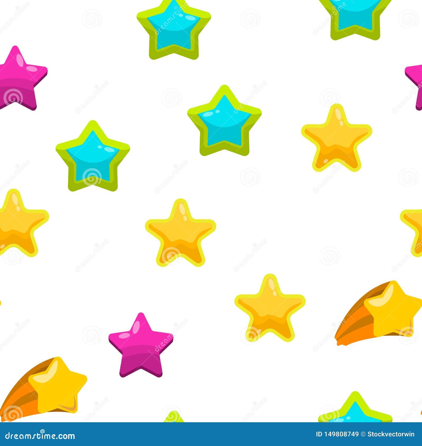 Teste padrão sem emenda do vetor do grupo do ícone da estrela