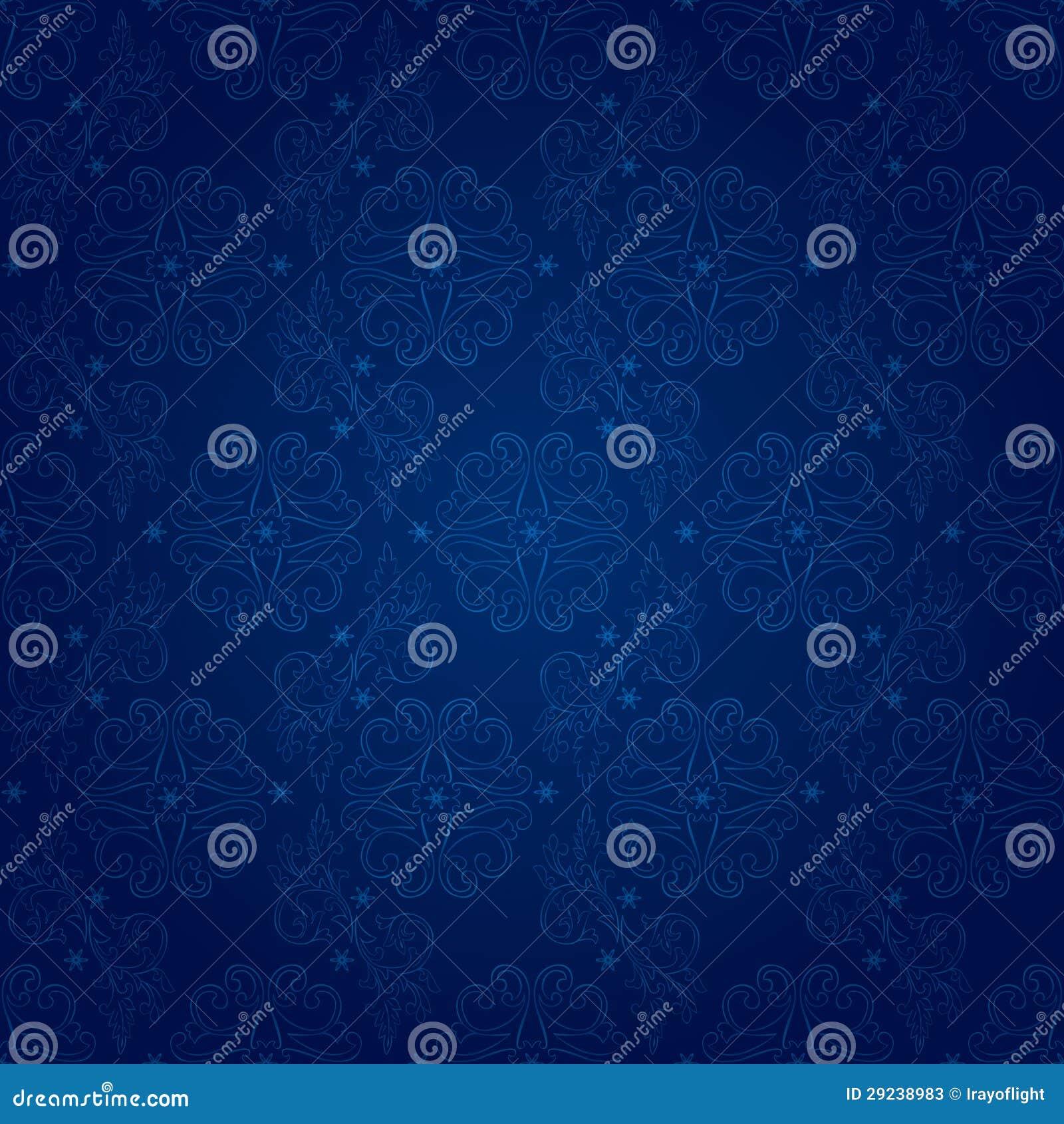 Download Teste Padrão Sem Emenda Do Vintage Floral Em Um Backgrou Azul Ilustração do Vetor - Ilustração de sumário, floral: 29238983