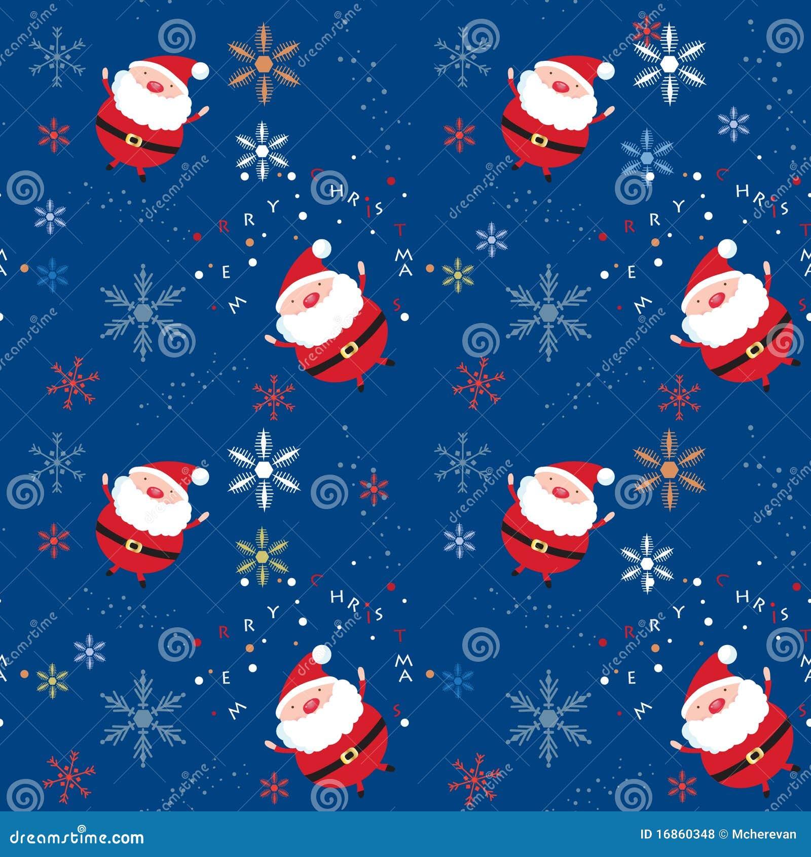 Teste padrão sem emenda do xmas com Santa e flocos de neve