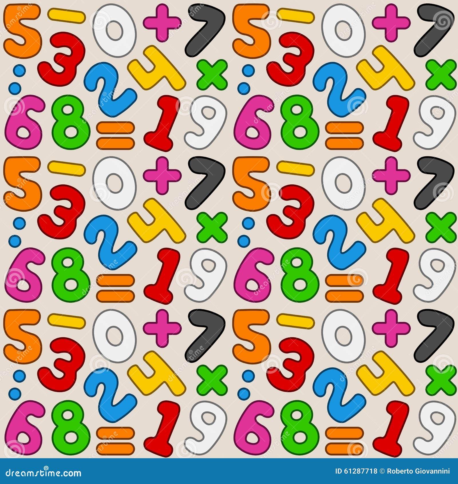Teste padrão sem emenda dos números coloridos