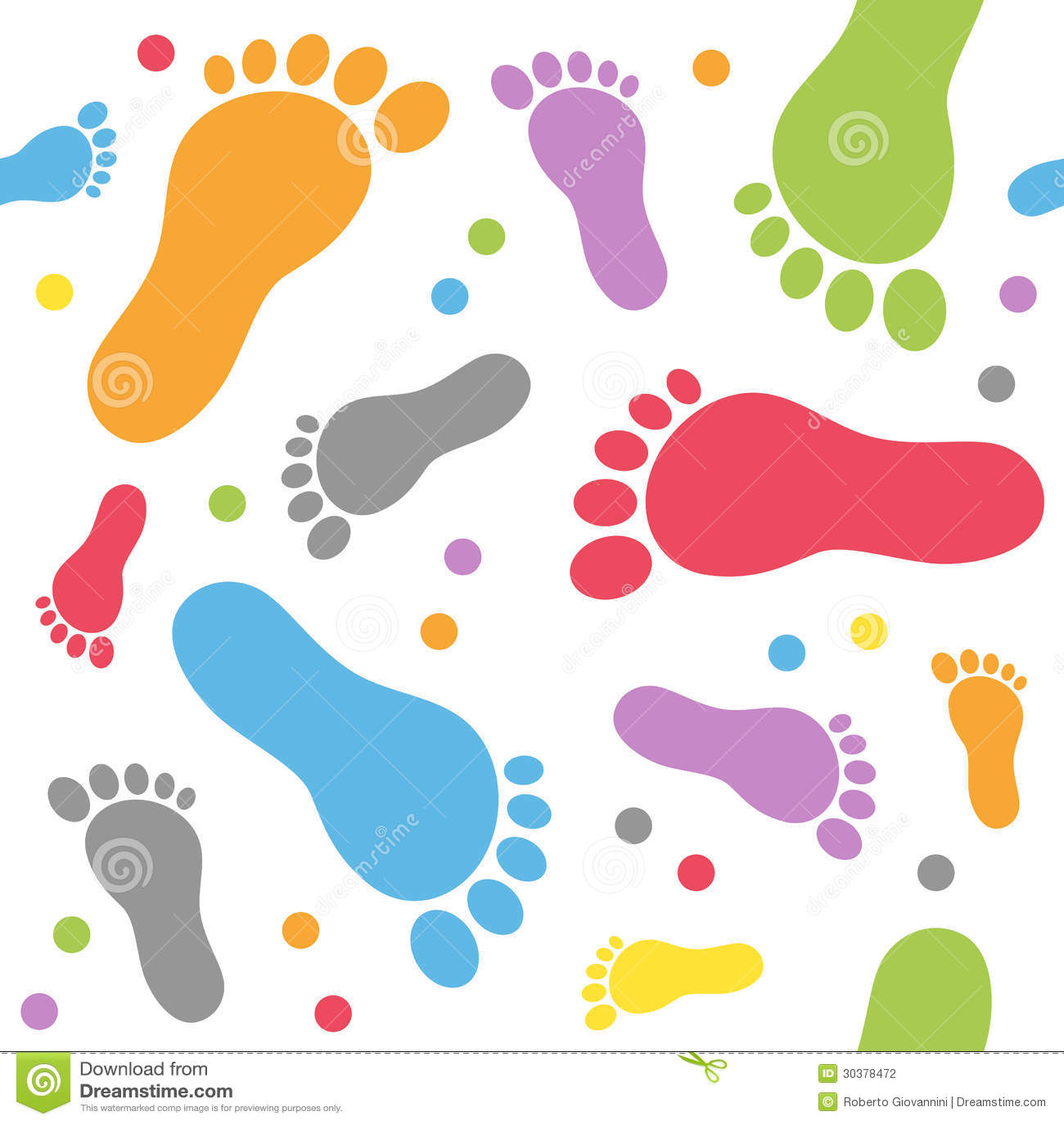 Teste padrão sem emenda dos passos do bebê