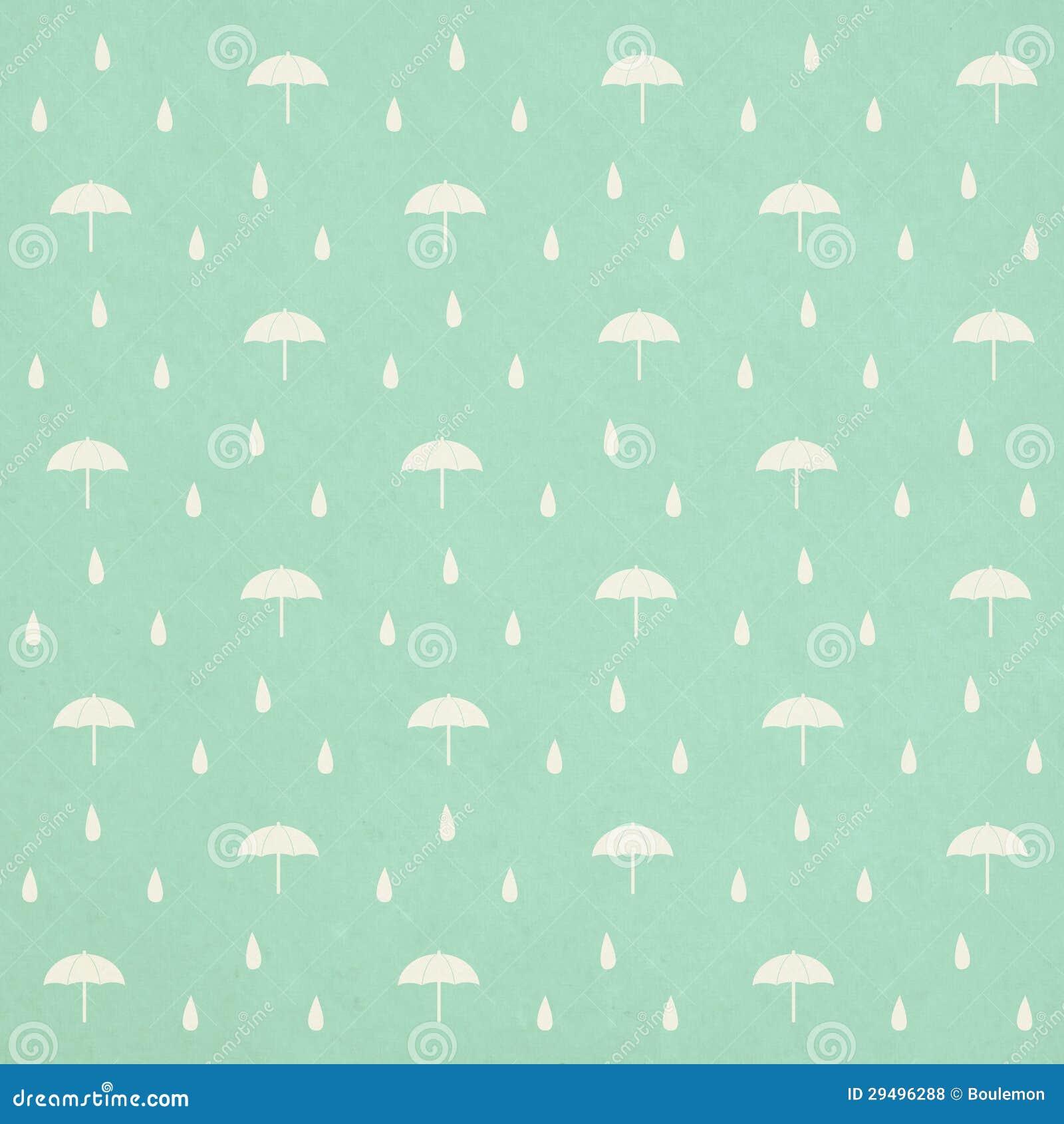 Teste padrão sem emenda dos pingos de chuva com guarda-chuva