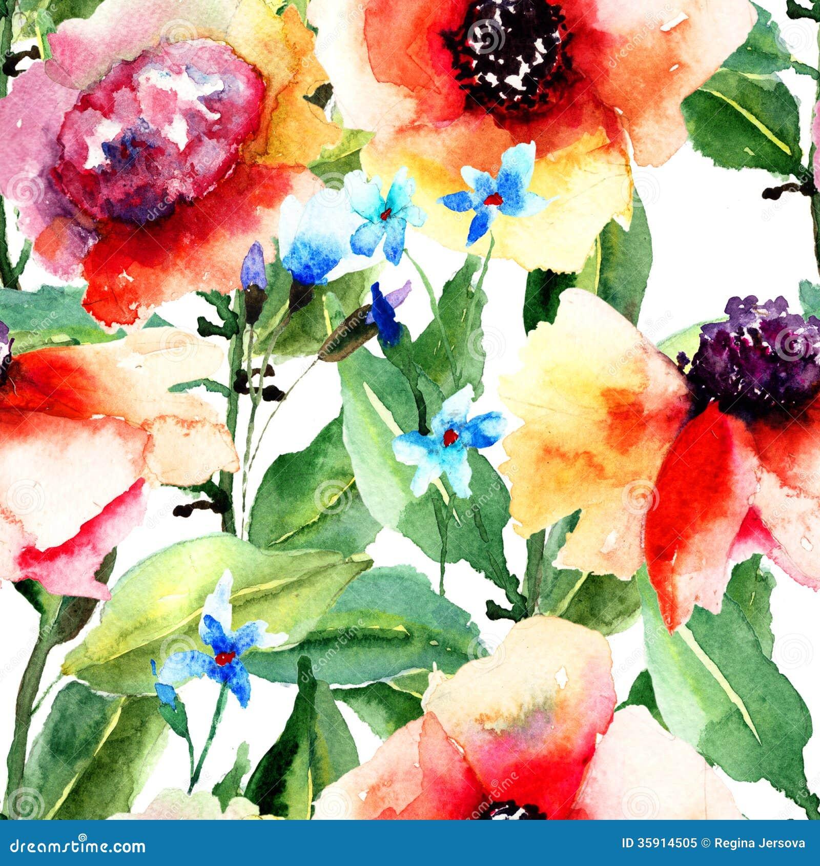 Teste padrão sem emenda floral
