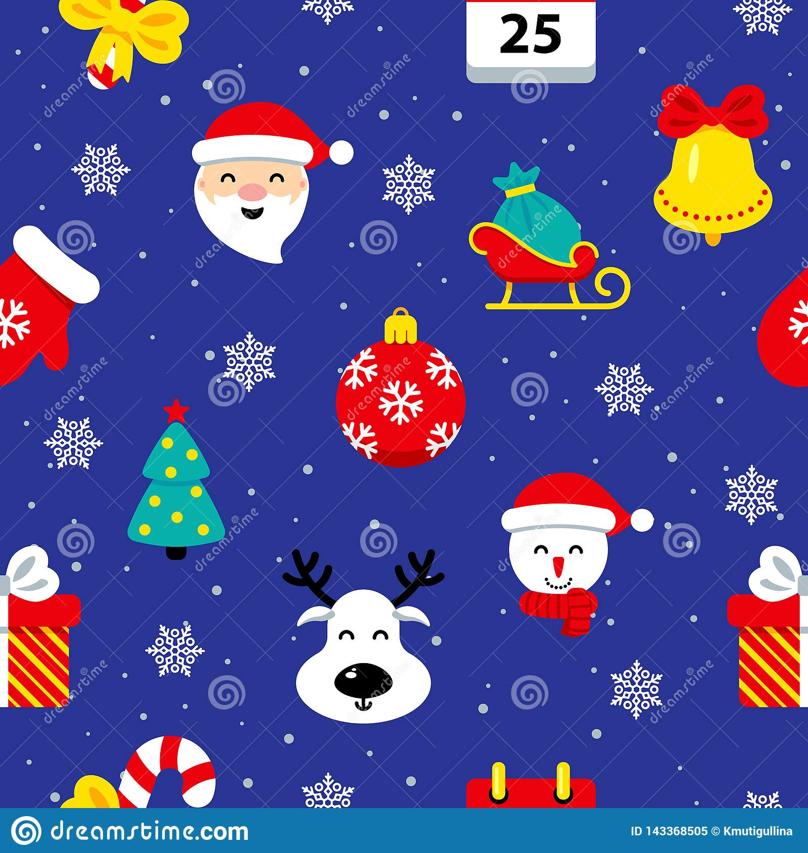 Teste padrão sem emenda liso do Natal