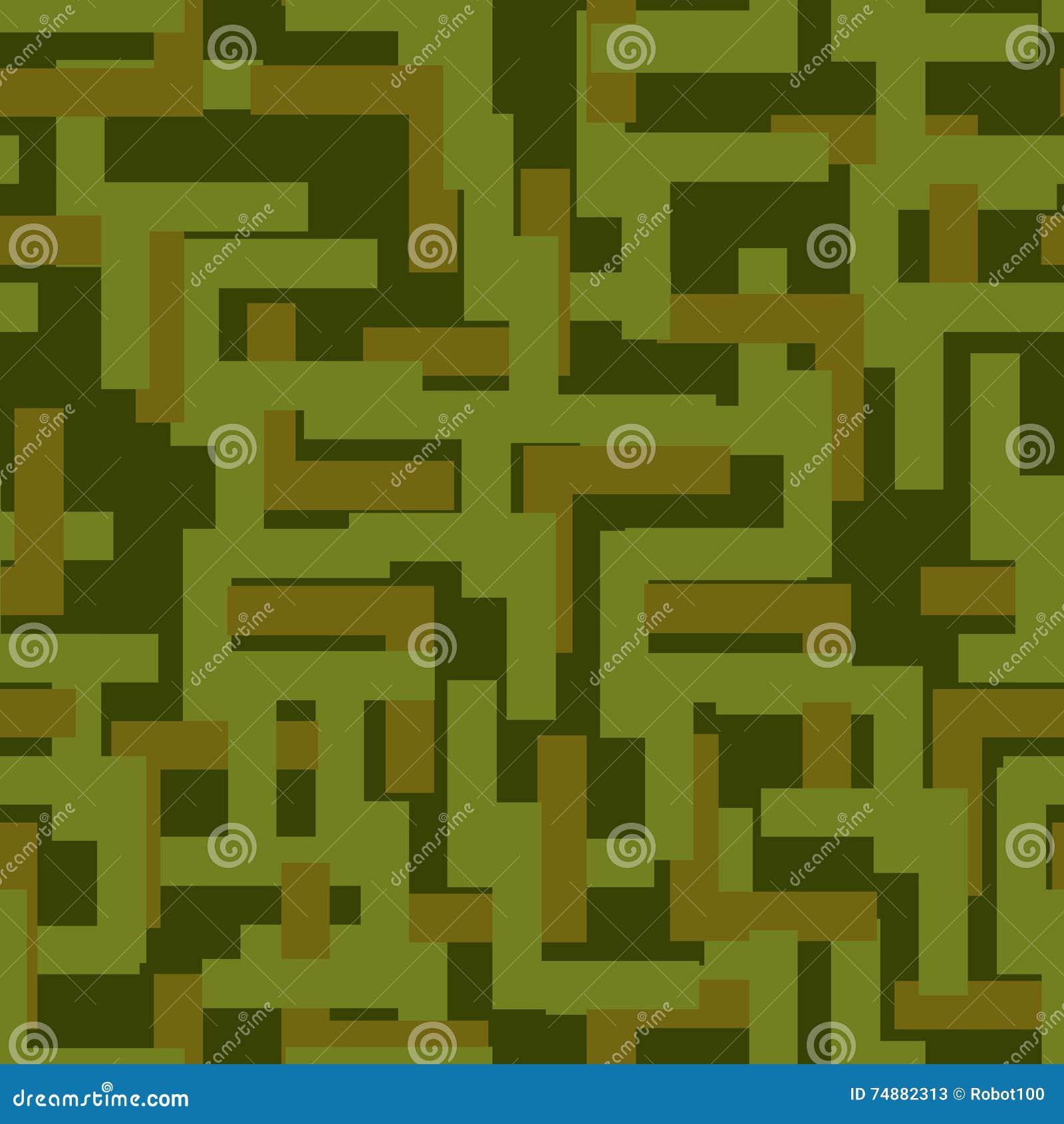 Teste padrão sem emenda militar Textura abstrata do exército camuflagem Orn
