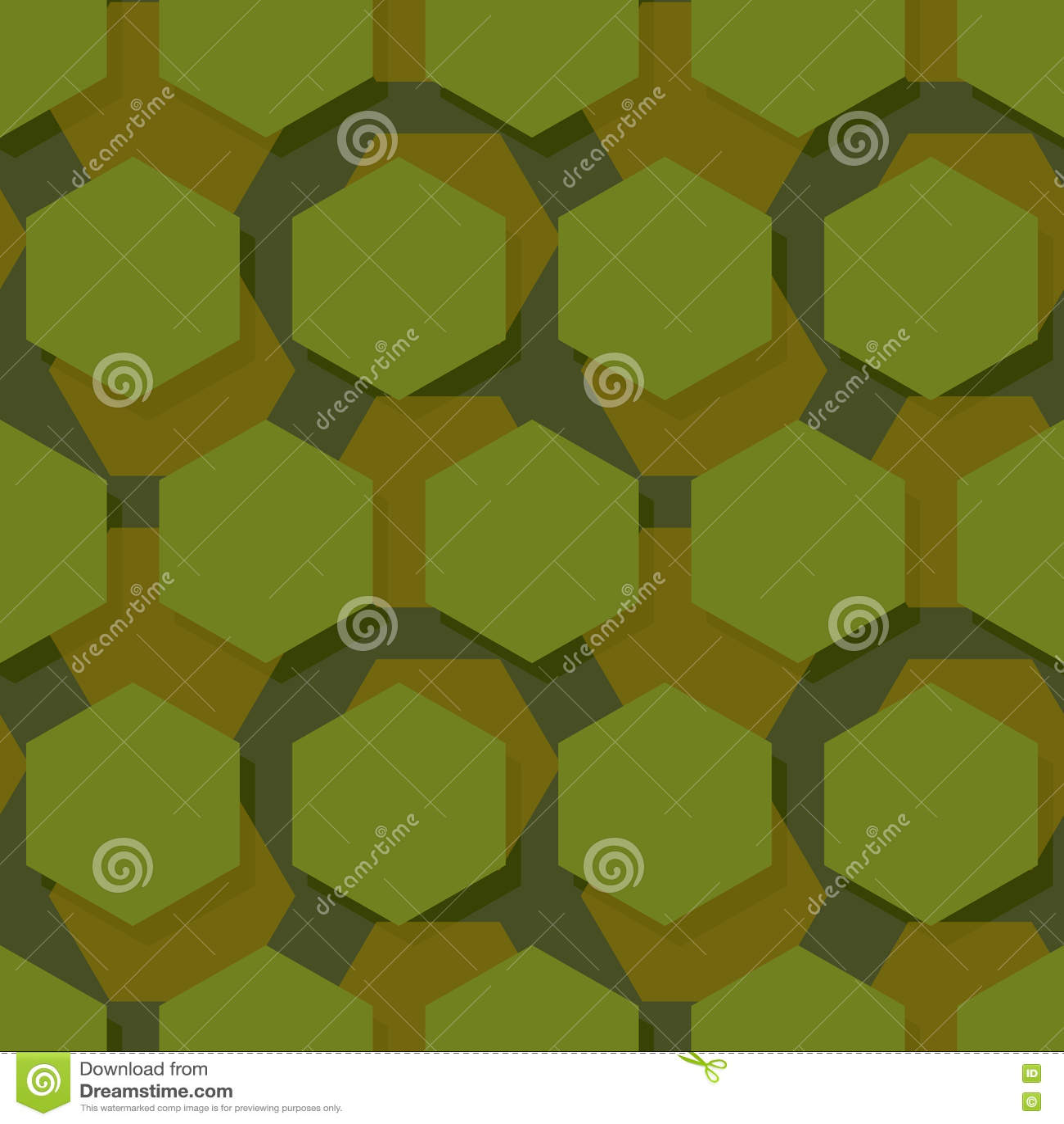 Teste padrão sem emenda poligonal militar Textu abstrato do hexágono do exército