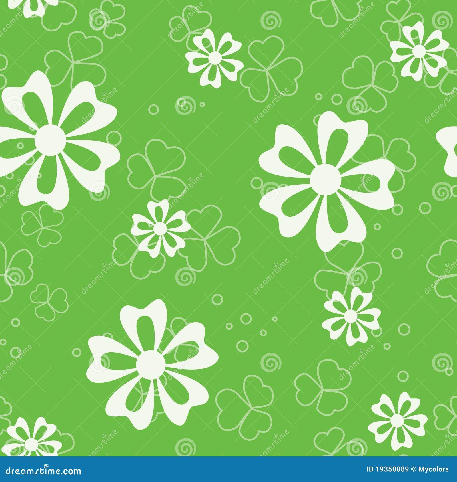 Teste padrão sem emenda verde com flora