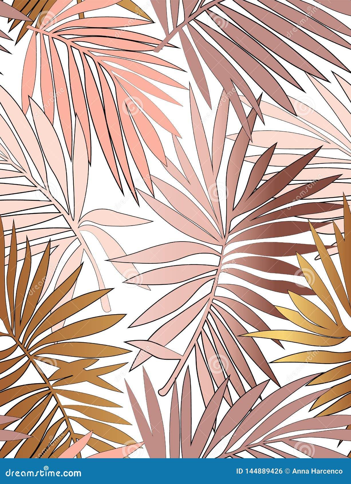 Teste padr?o sem emenda tropical com folhas