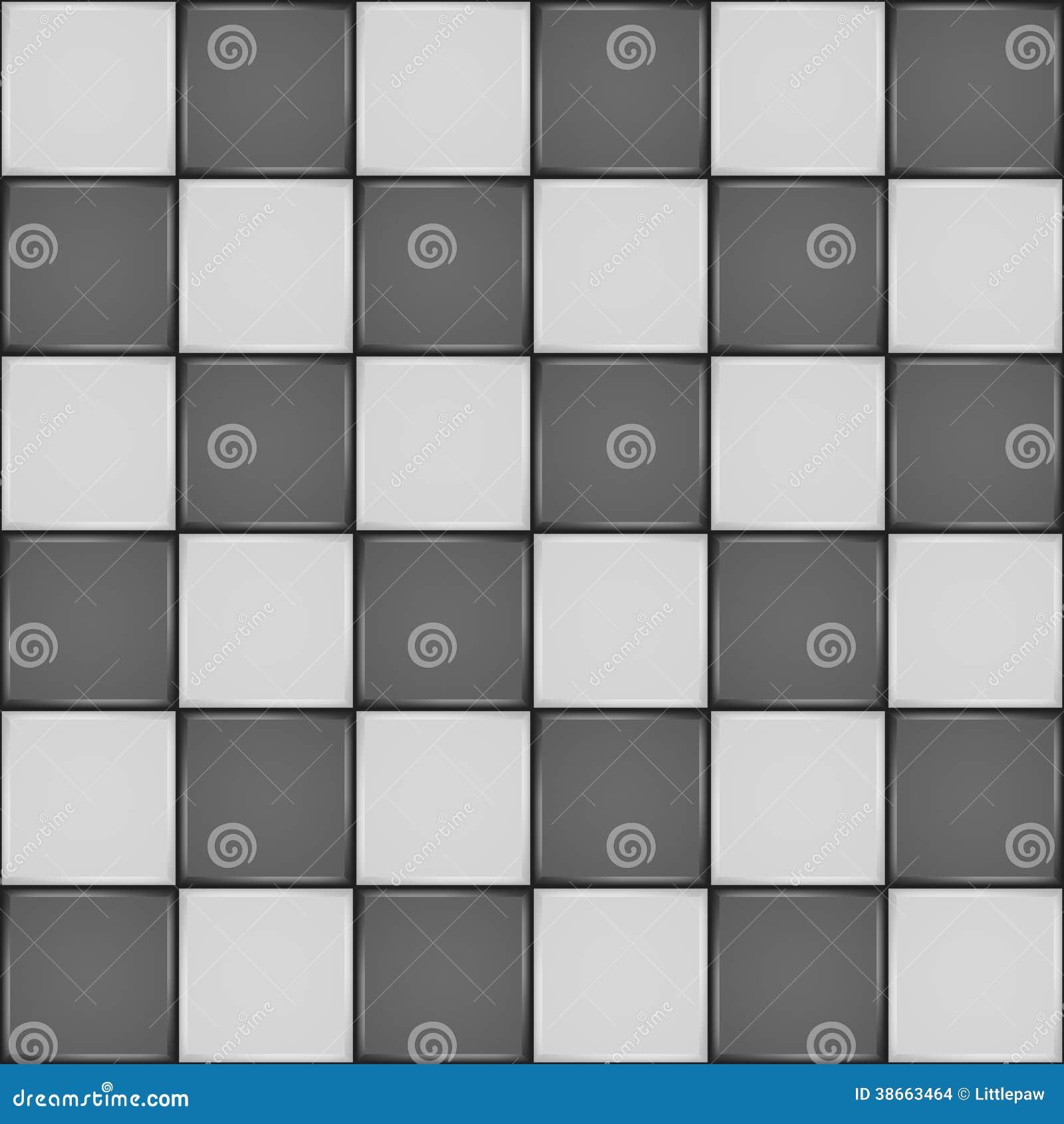 Teste Padrão Sem Emenda Do Azulejo Preto E Branco Imagens de Stock  #86A922 1300x1390 Azulejos Banheiro Preto E Branco