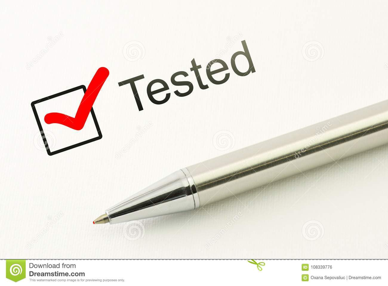 tested questionnaire survey quality check medical test checkbox