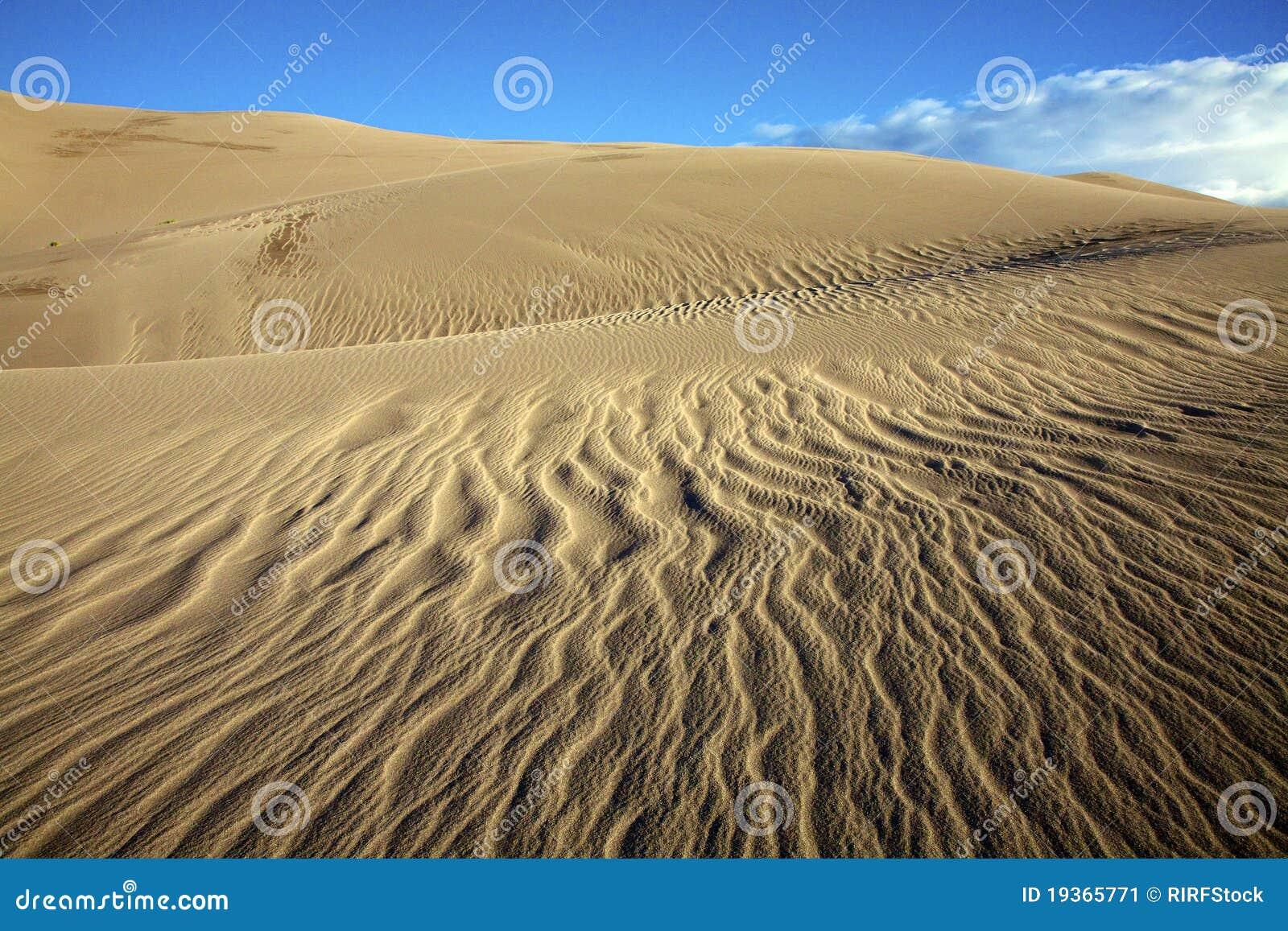 Testes padrões das dunas de areia