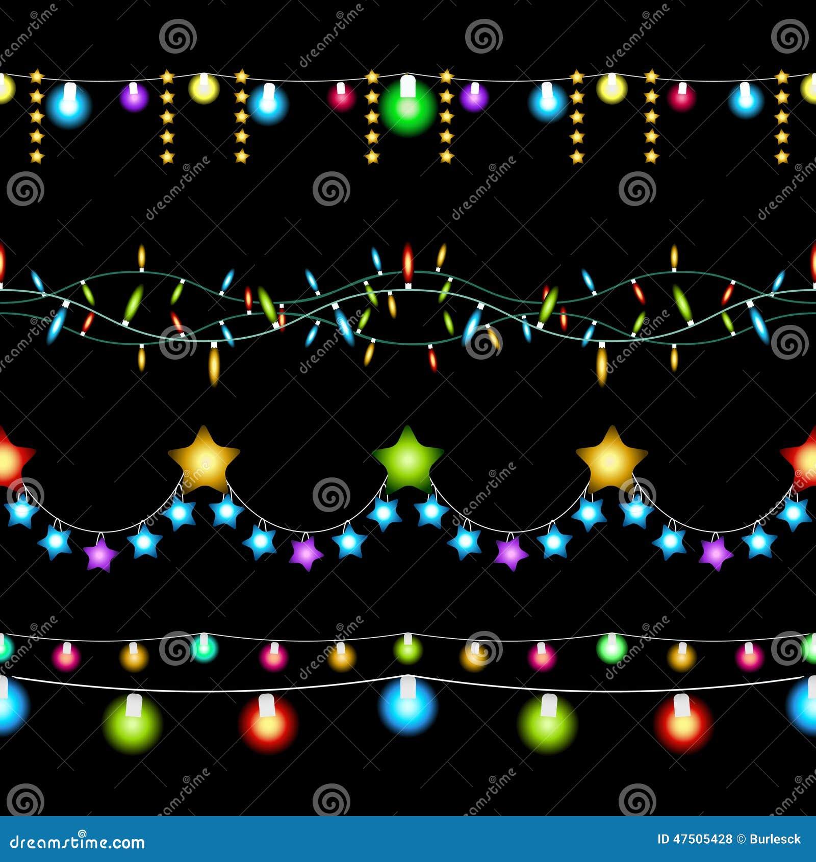 Testes padrões das luzes de Natal