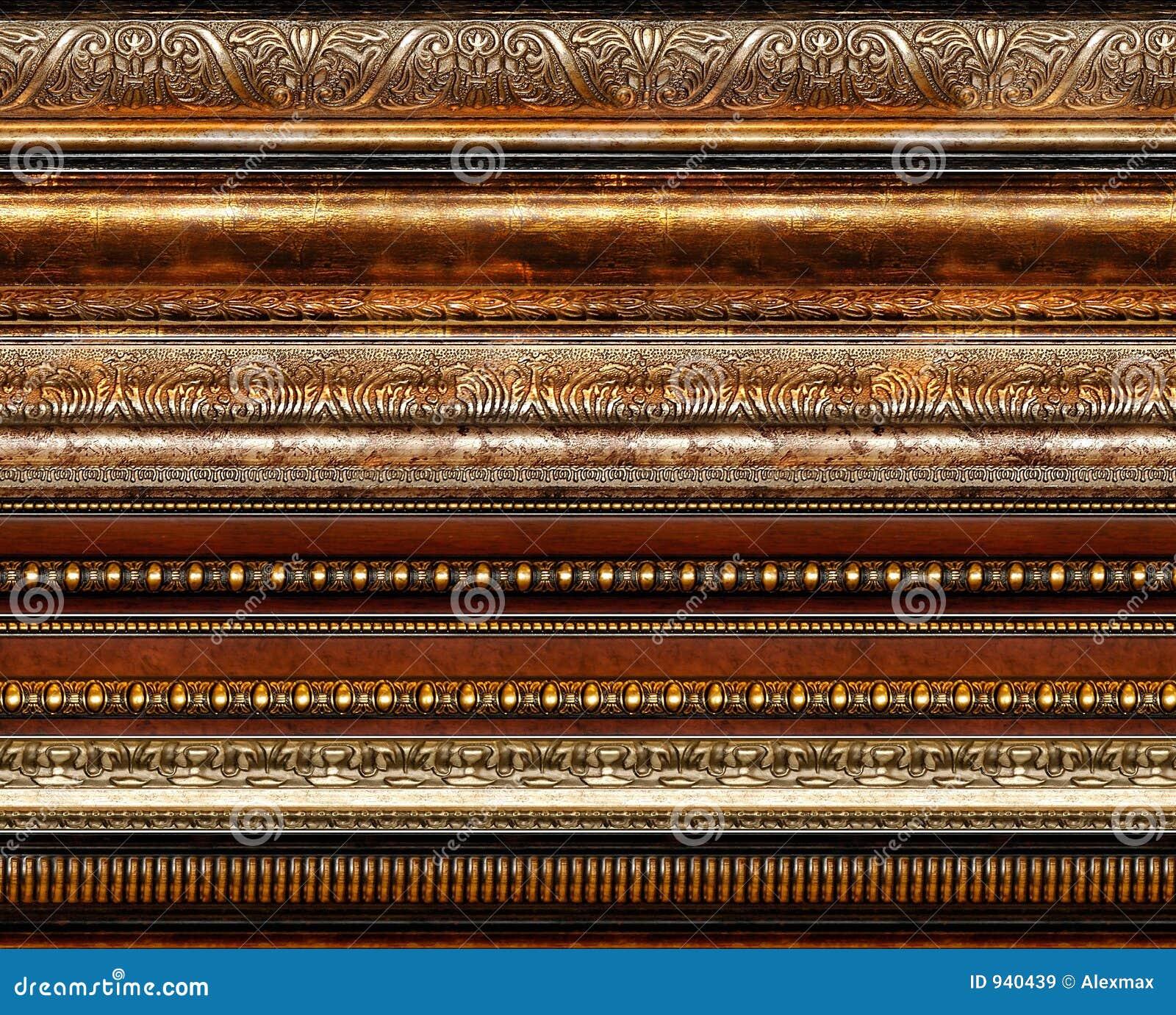 Testes padrões decorativos rústicos antigos do frame