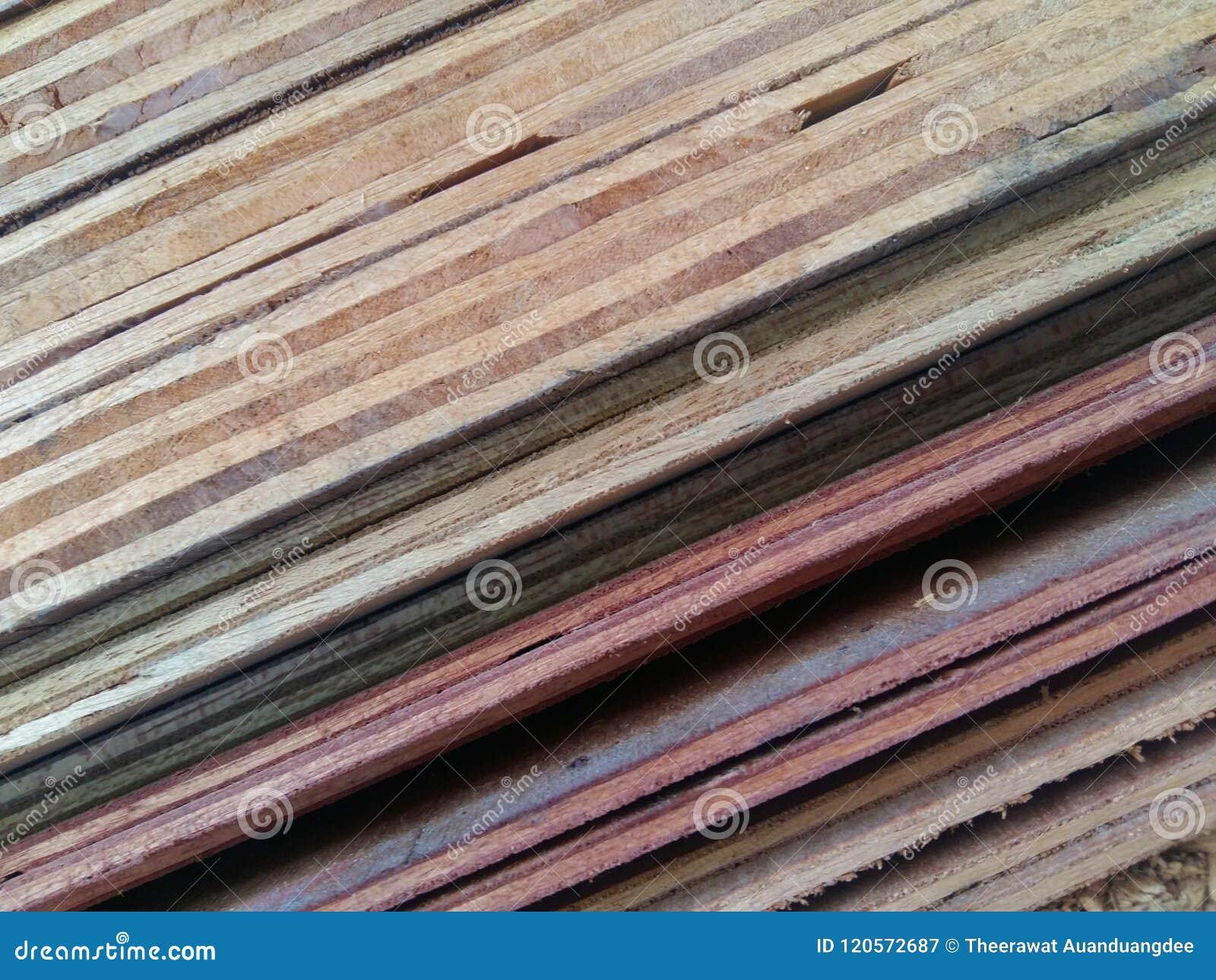 Testes padrões e texturas e linhas da madeira compensada