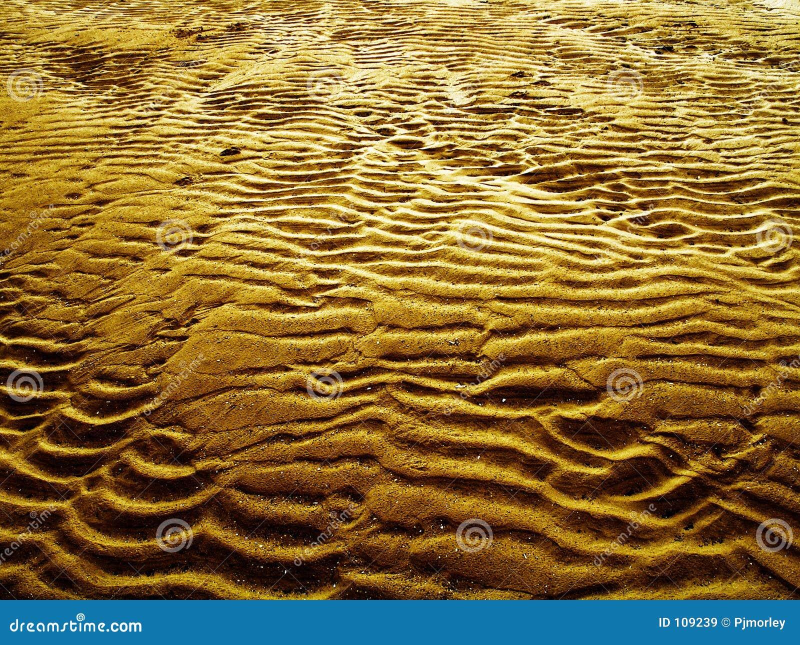 Testes padrões naturais da areia