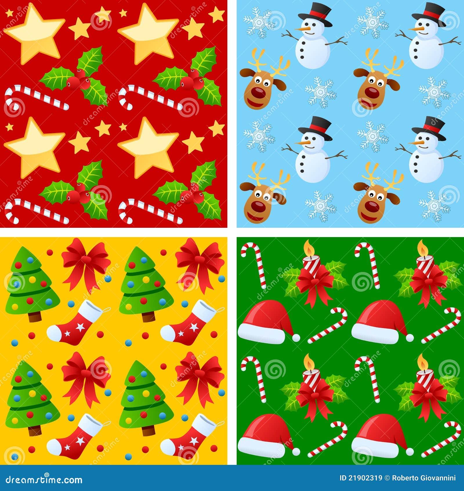 Testes padrões sem emenda do Natal