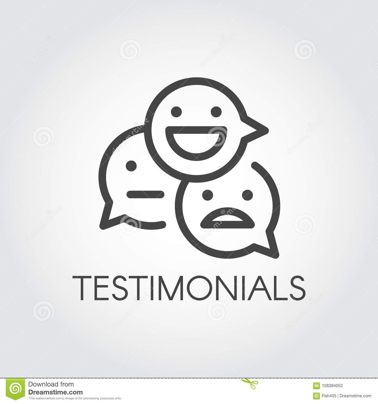 Testimonial line icon symbols for communication on websites forums symbols for communication on websites forums games instant messengers and other platforms buycottarizona Choice Image