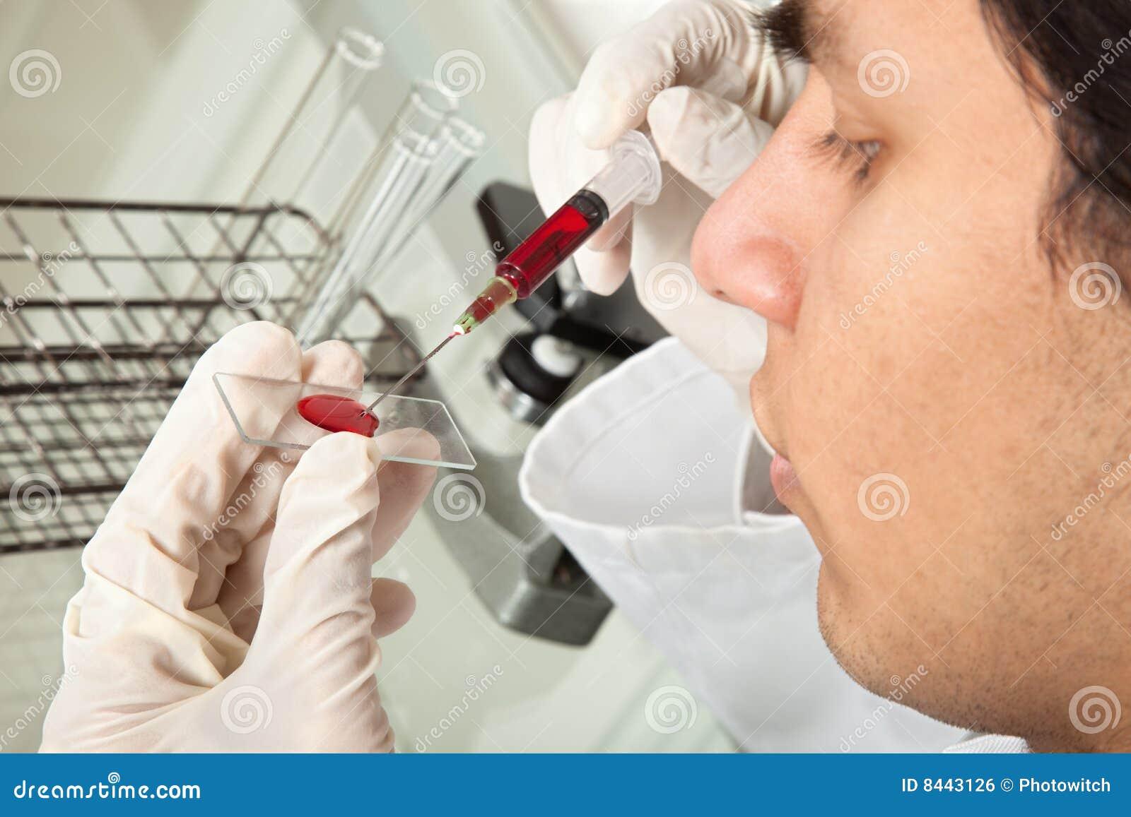 Testing blood