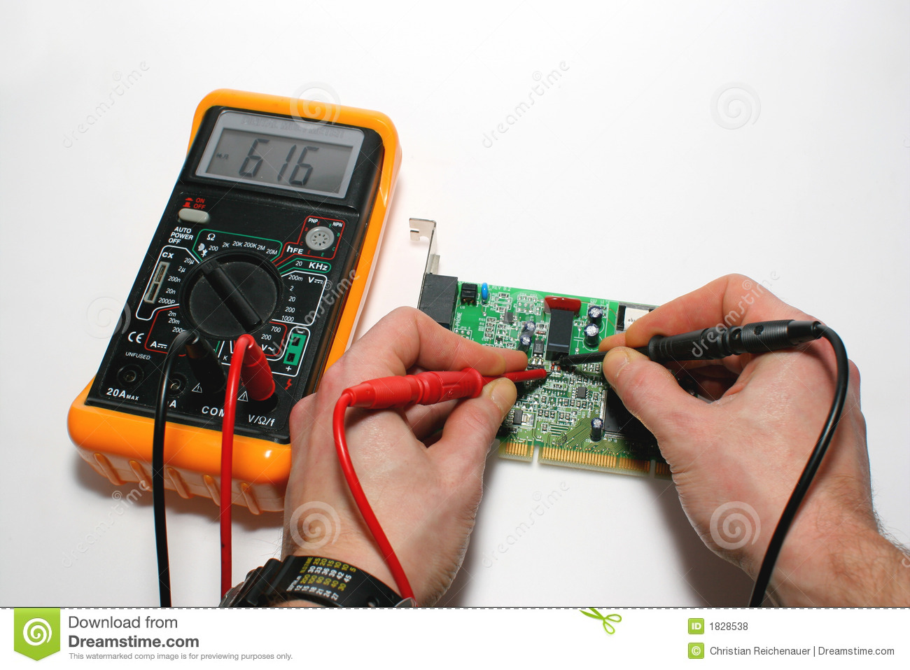 Testing A Computer Modem With Digital Multimeter Royalty