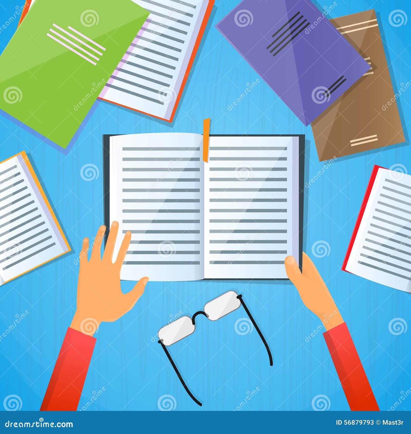 Testo dell esperto di libri della nota di Desk Hands Hold dello studente piano