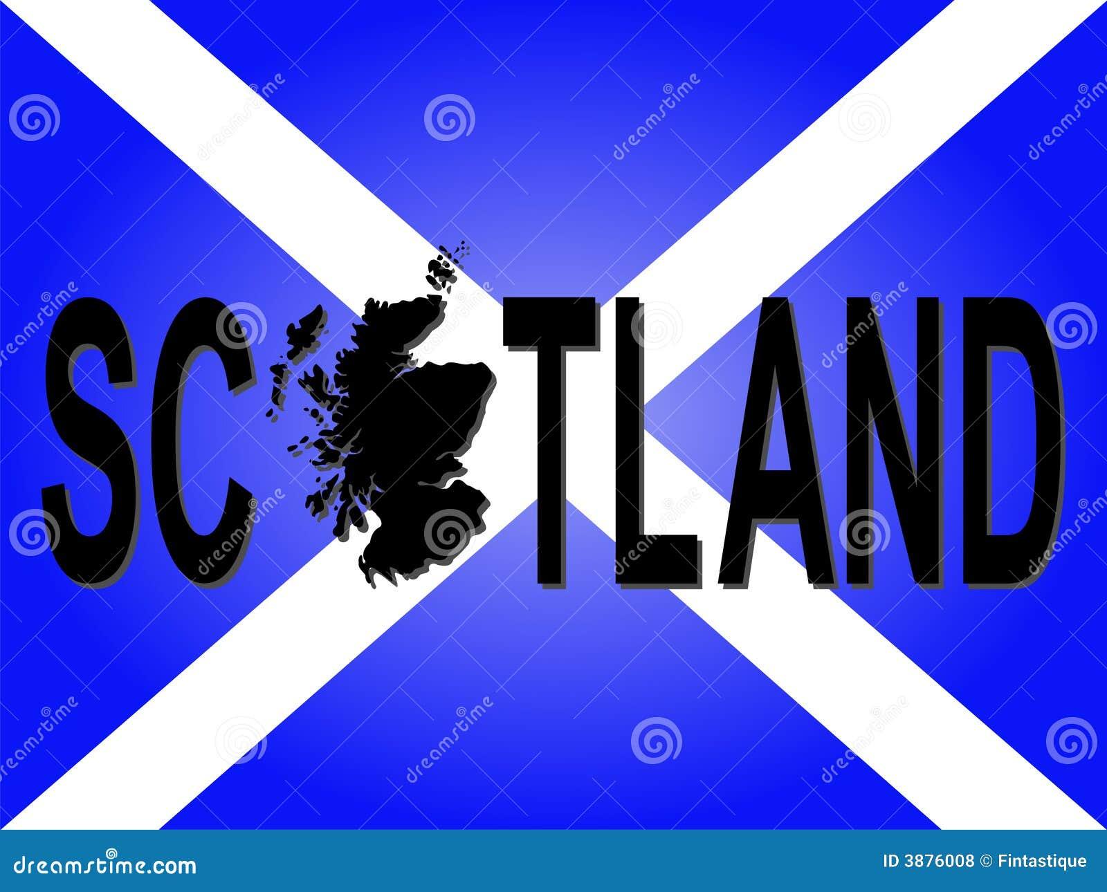 Testo della Scozia con il programma