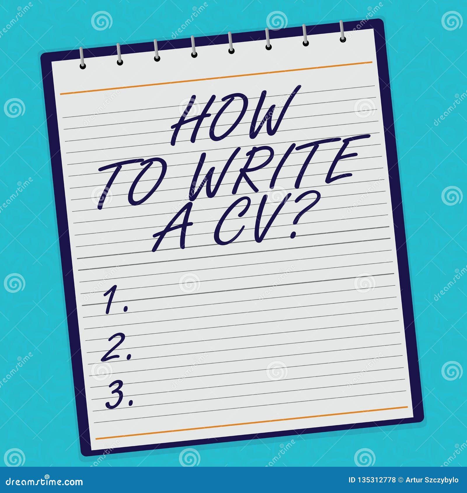 Testo della scrittura come redigere un cv Concetto che significa le raccomandazioni fare un buon riassunto per ottenere una spira