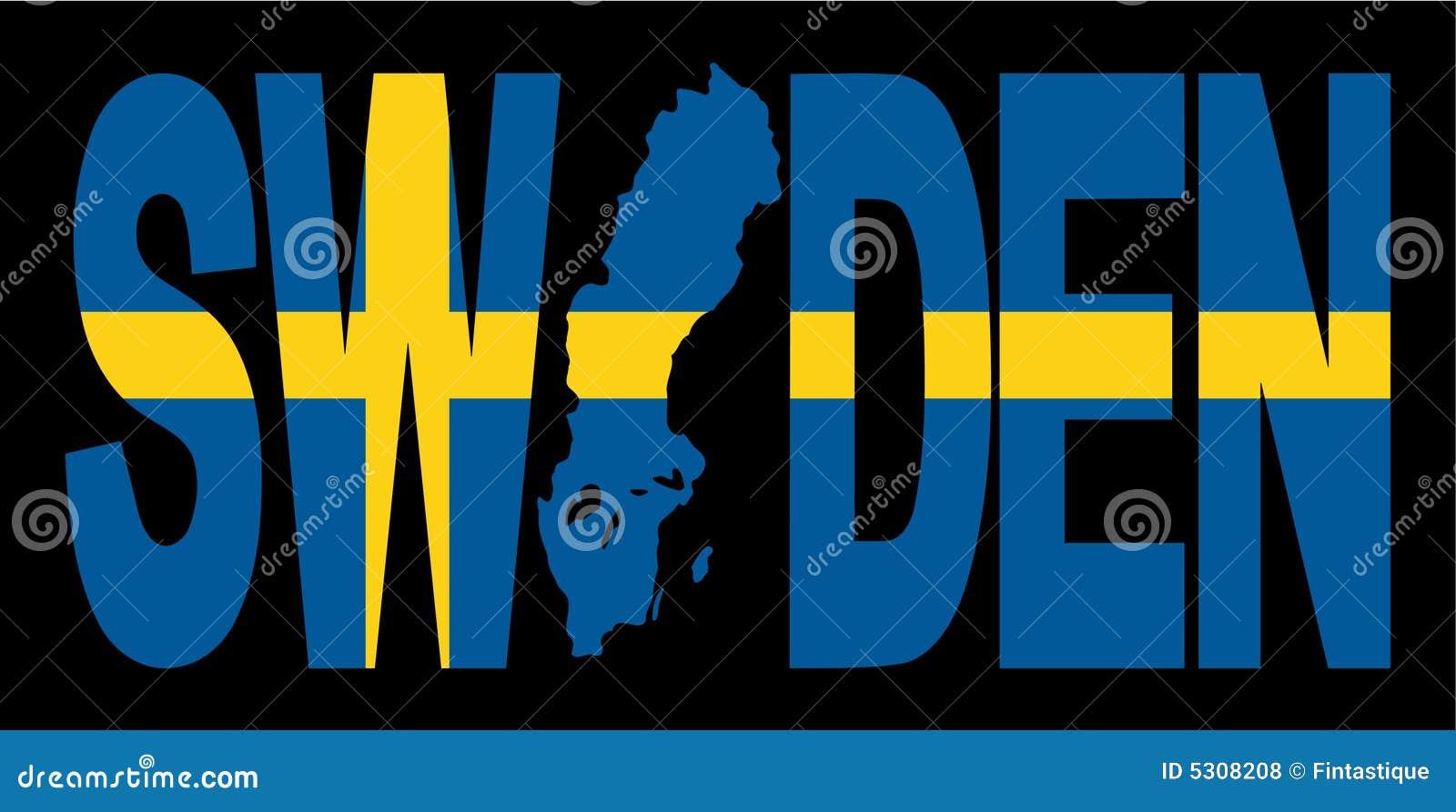Download Testo Della Svezia Con Il Programma Illustrazione Vettoriale - Illustrazione di sweden, profilo: 5308208