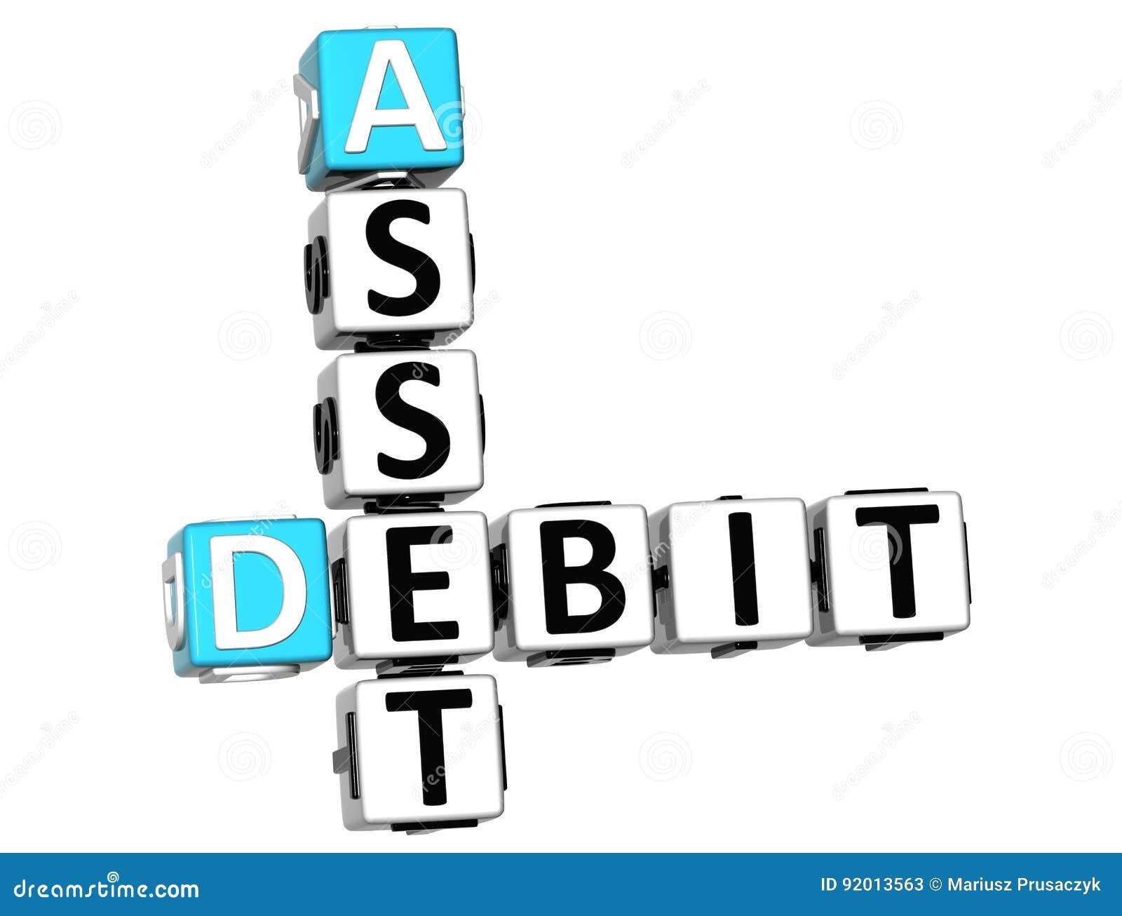 Testo delle parole incrociate di debito del bene 3D
