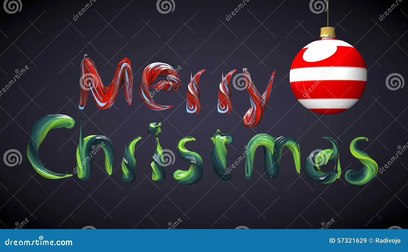 Buon Natale Del C Testo.Testo Di Buon Natale Fatto Con I Colori Della Pittura Ad Olio
