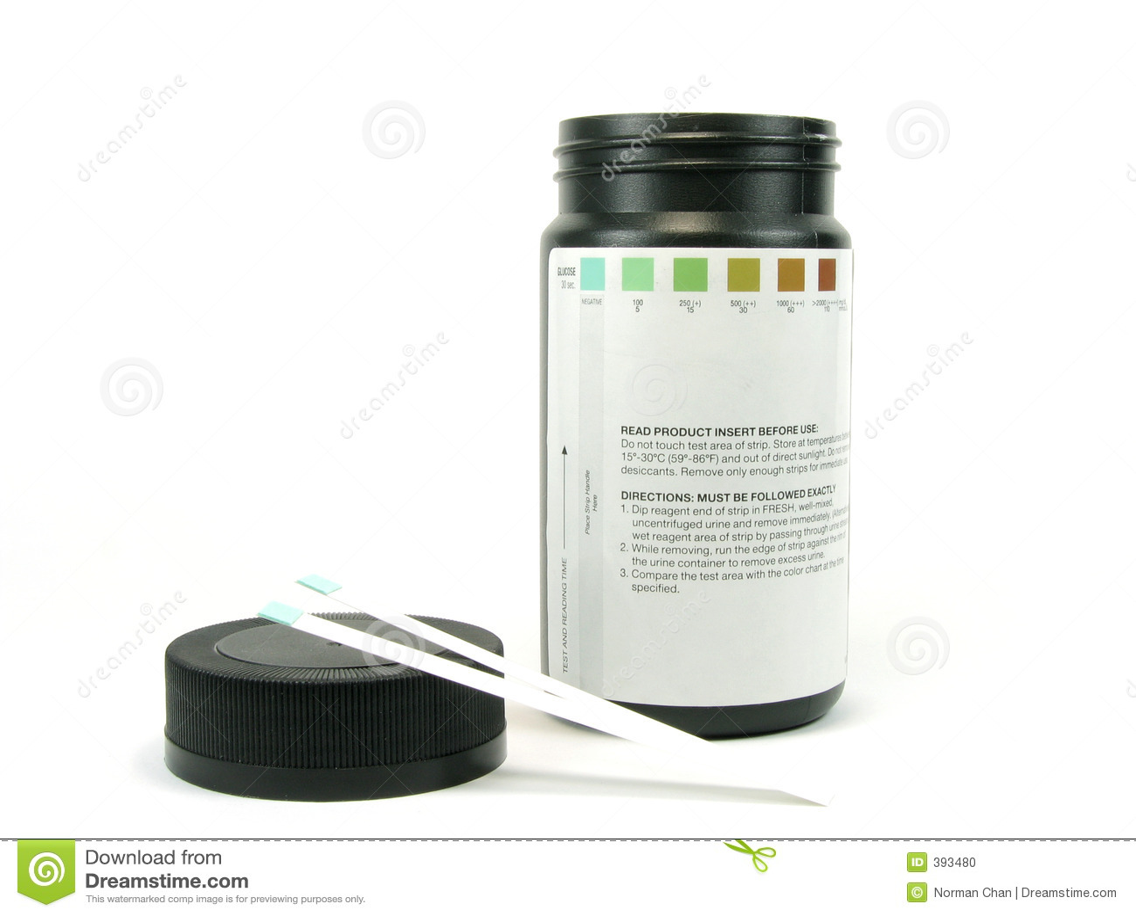 Teststrip de glucose