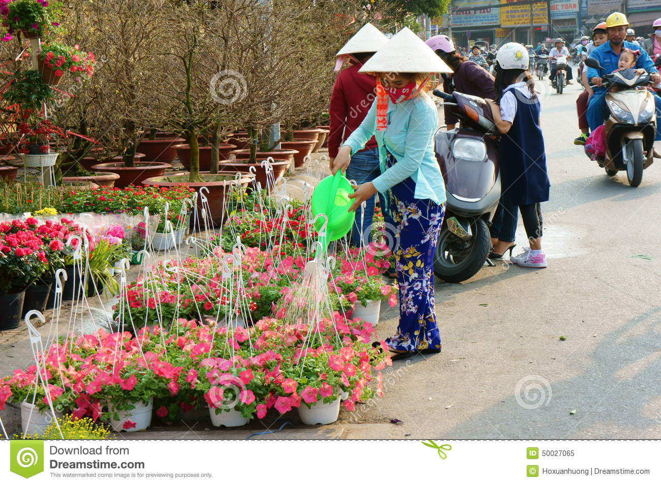 Binh Dong Floating Flower Market.Tet On Ho Chi Minh City Flower Market Editorial Image Image Of